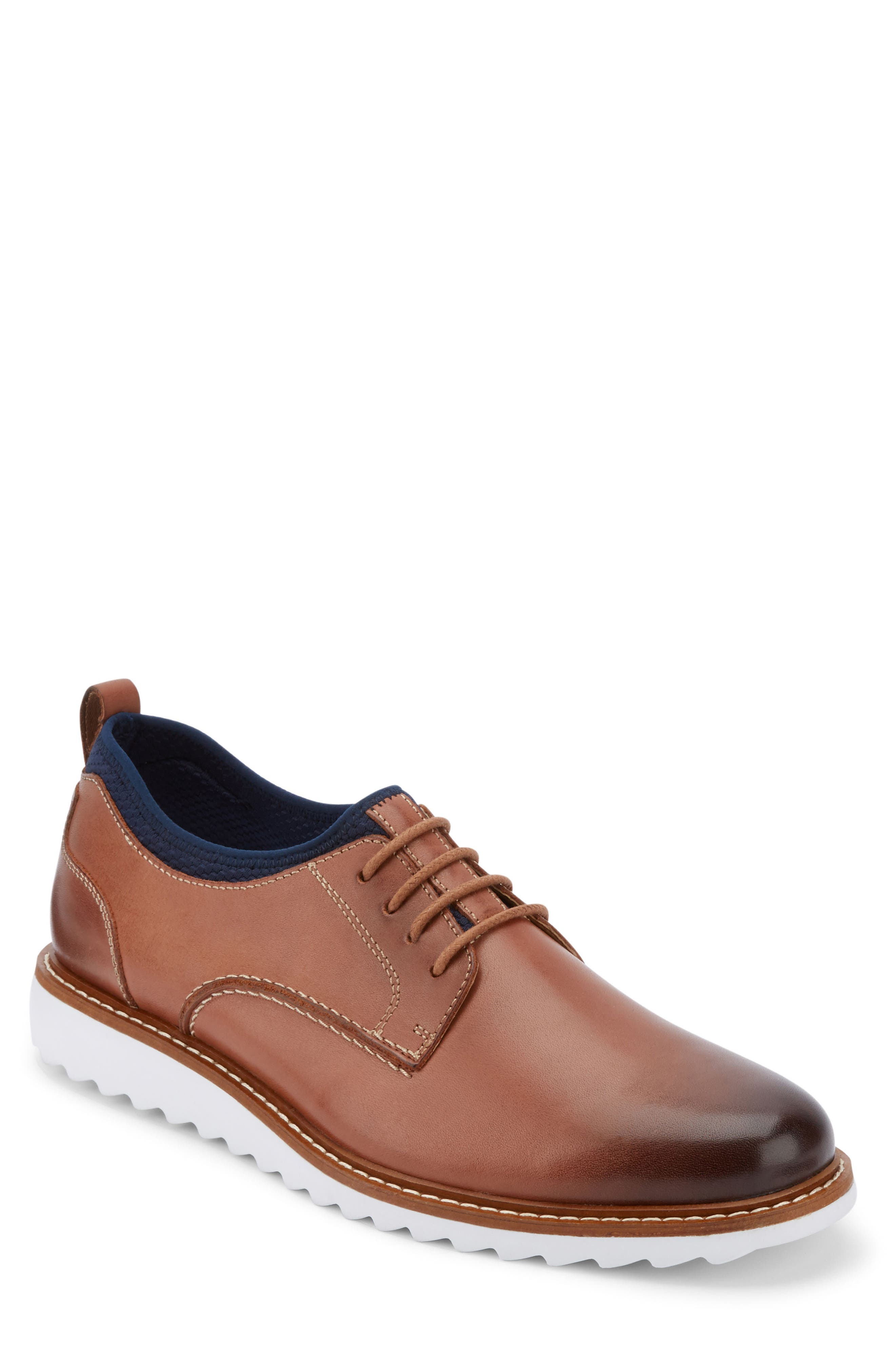 Buck 2.0 Plain Toe Derby,                         Main,                         color, Tan Burnished Leather