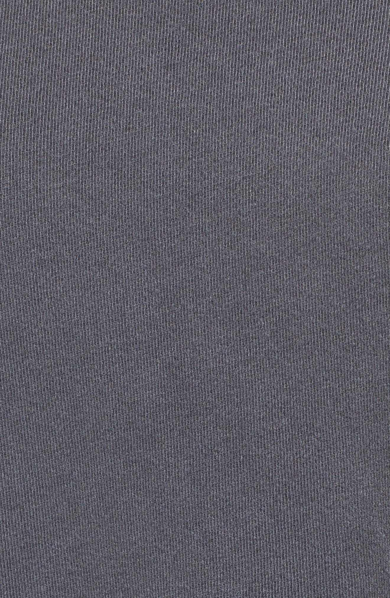 Mixed Media Swing Sweatshirt,                             Alternate thumbnail 5, color,                             Charcoal