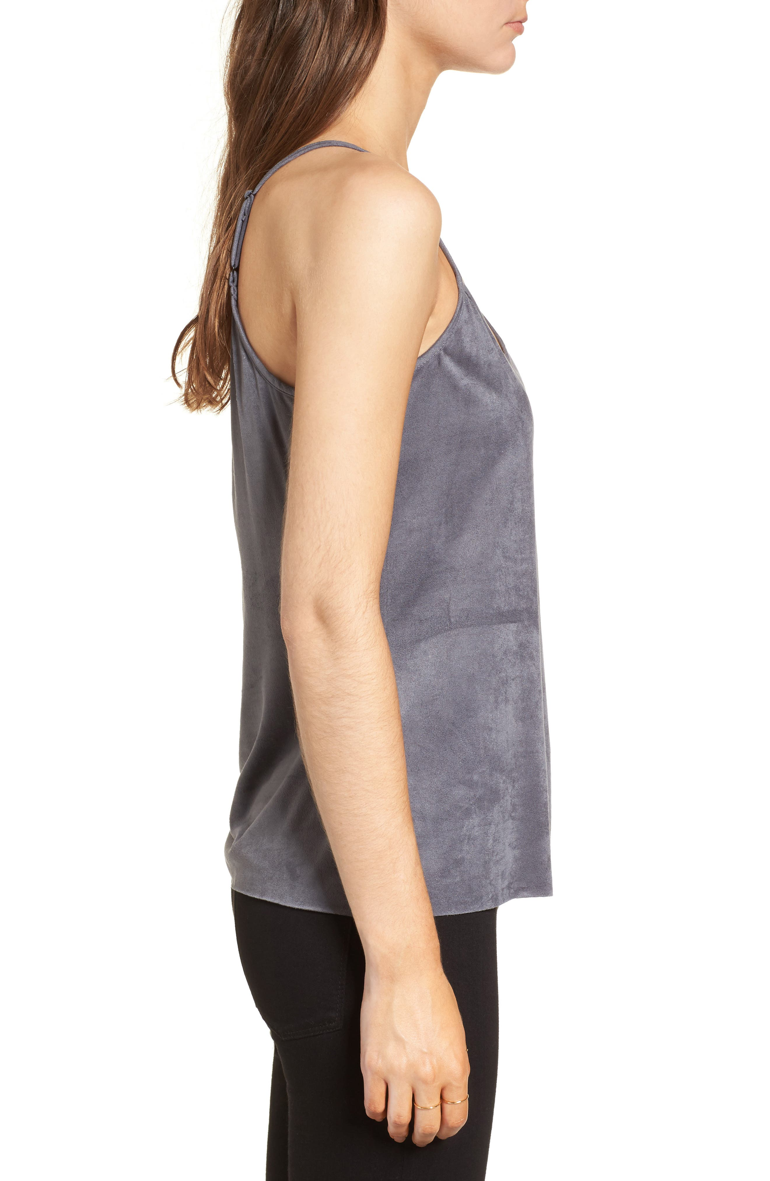 Alternate Image 3  - Mimi Chica Faux Suede Camisole Tank