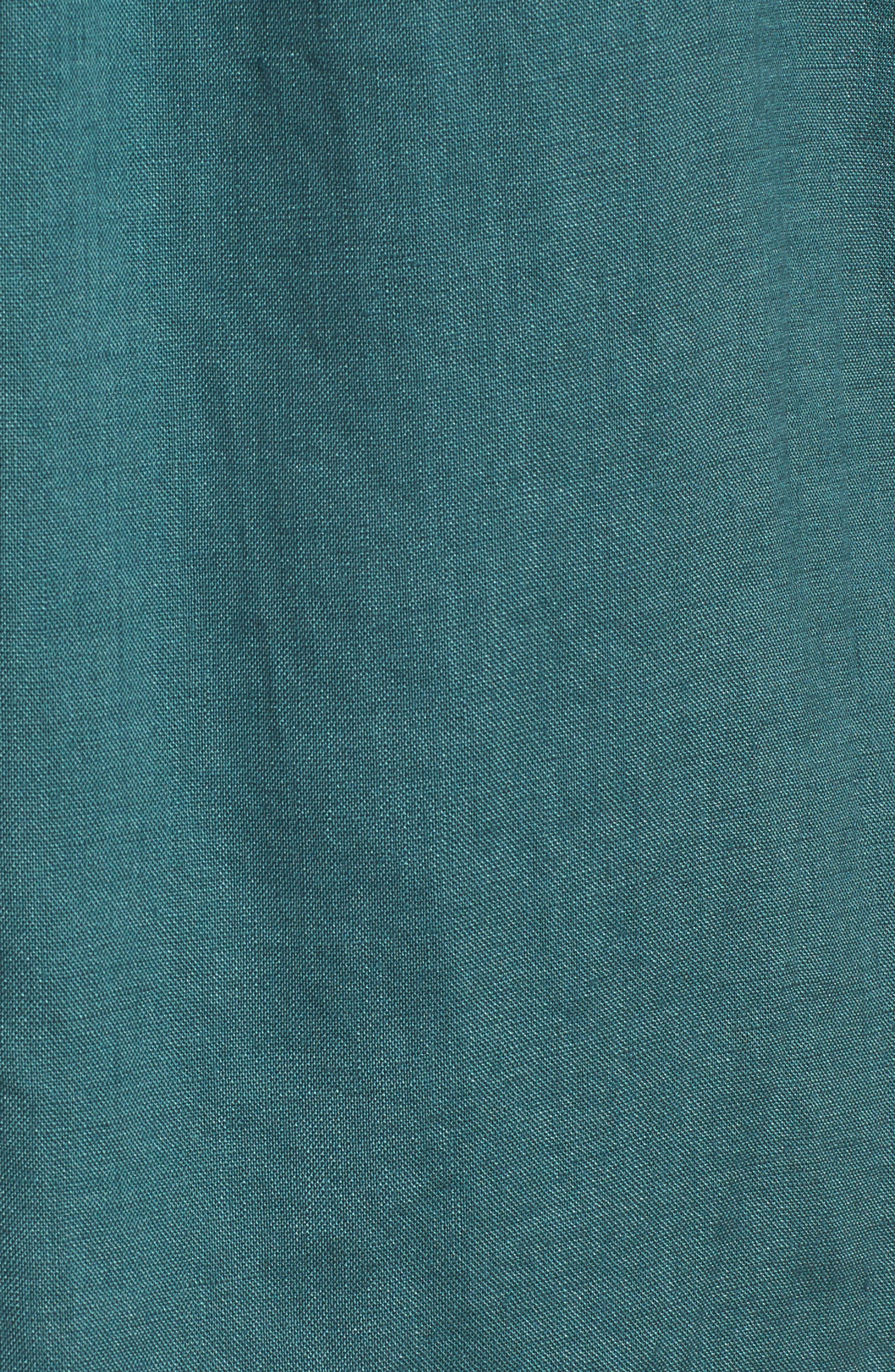 Organic Linen Tunic Shirt,                             Alternate thumbnail 5, color,                             Dragonfly