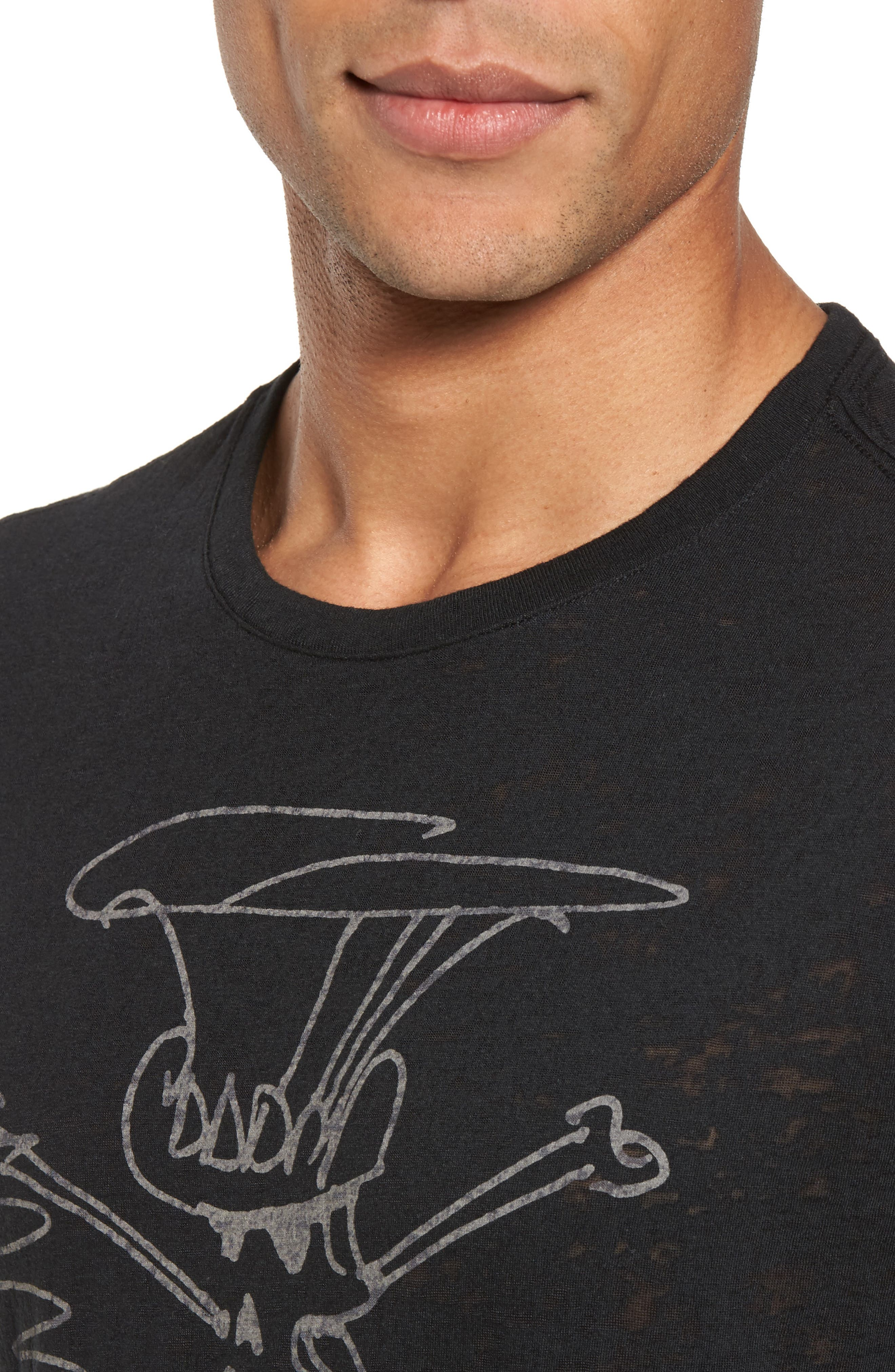 Alternate Image 4  - John Varvatos Star USA Slash Sketch Graphic T-Shirt