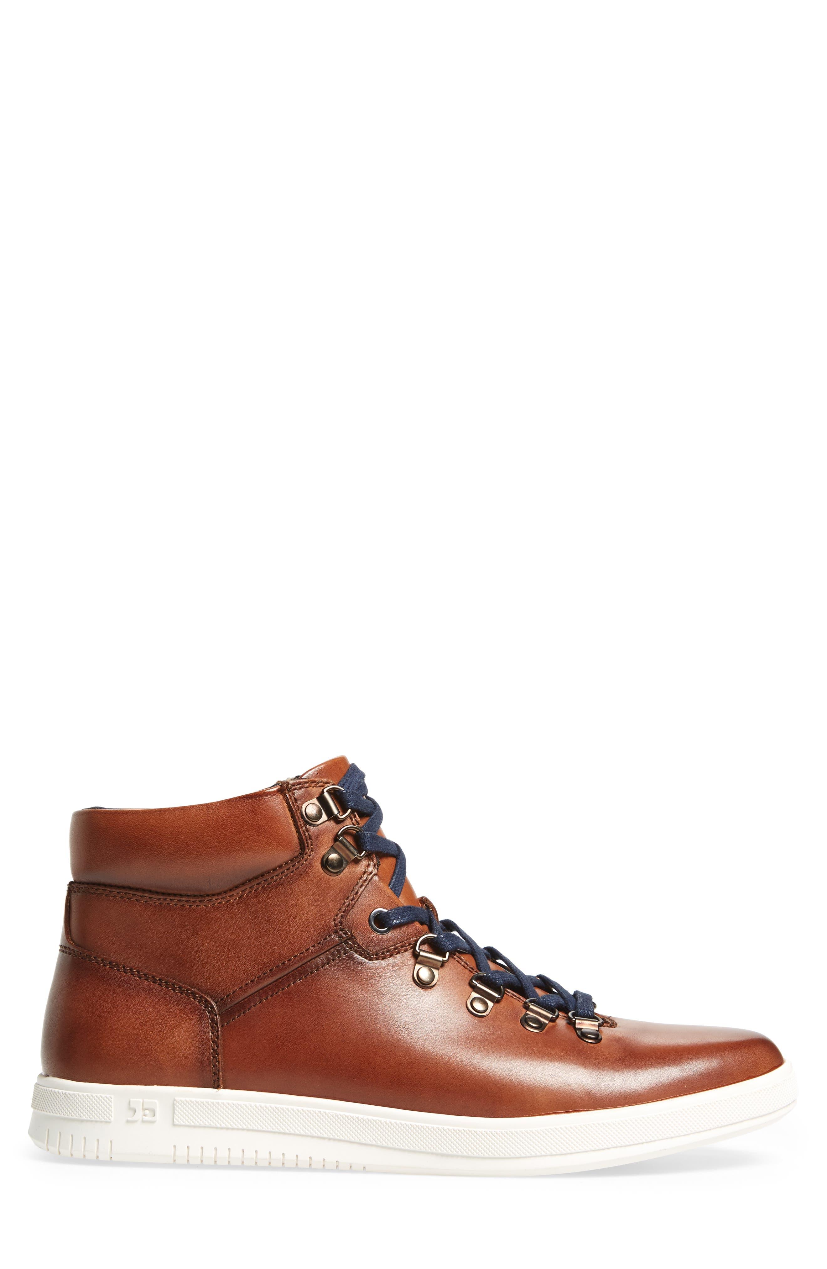 Slow Joe Mid Top Sneaker,                             Alternate thumbnail 3, color,                             Tan Leather
