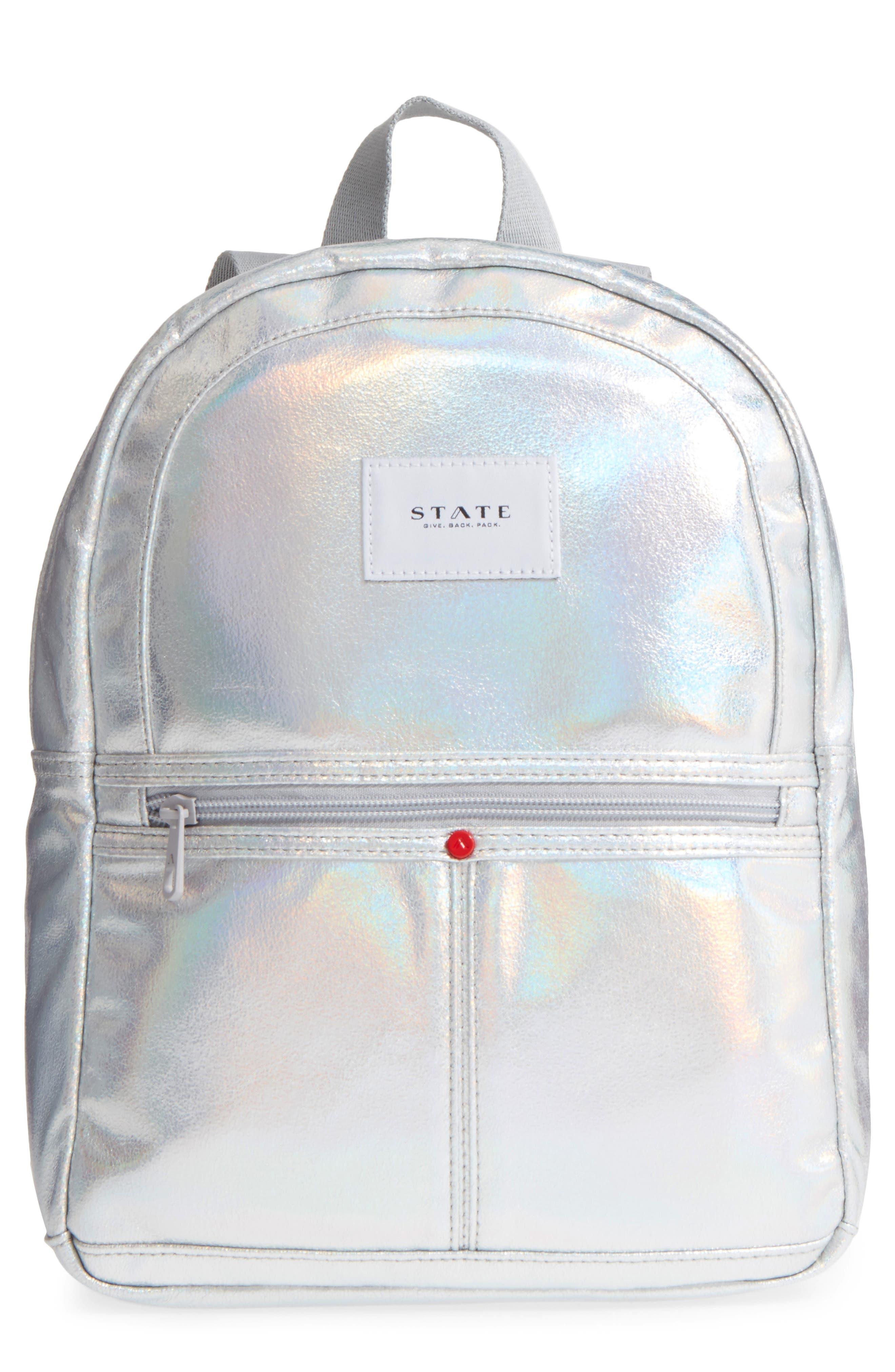 Starrett City - Mini Kane Iridescent Backpack,                         Main,                         color, Silver