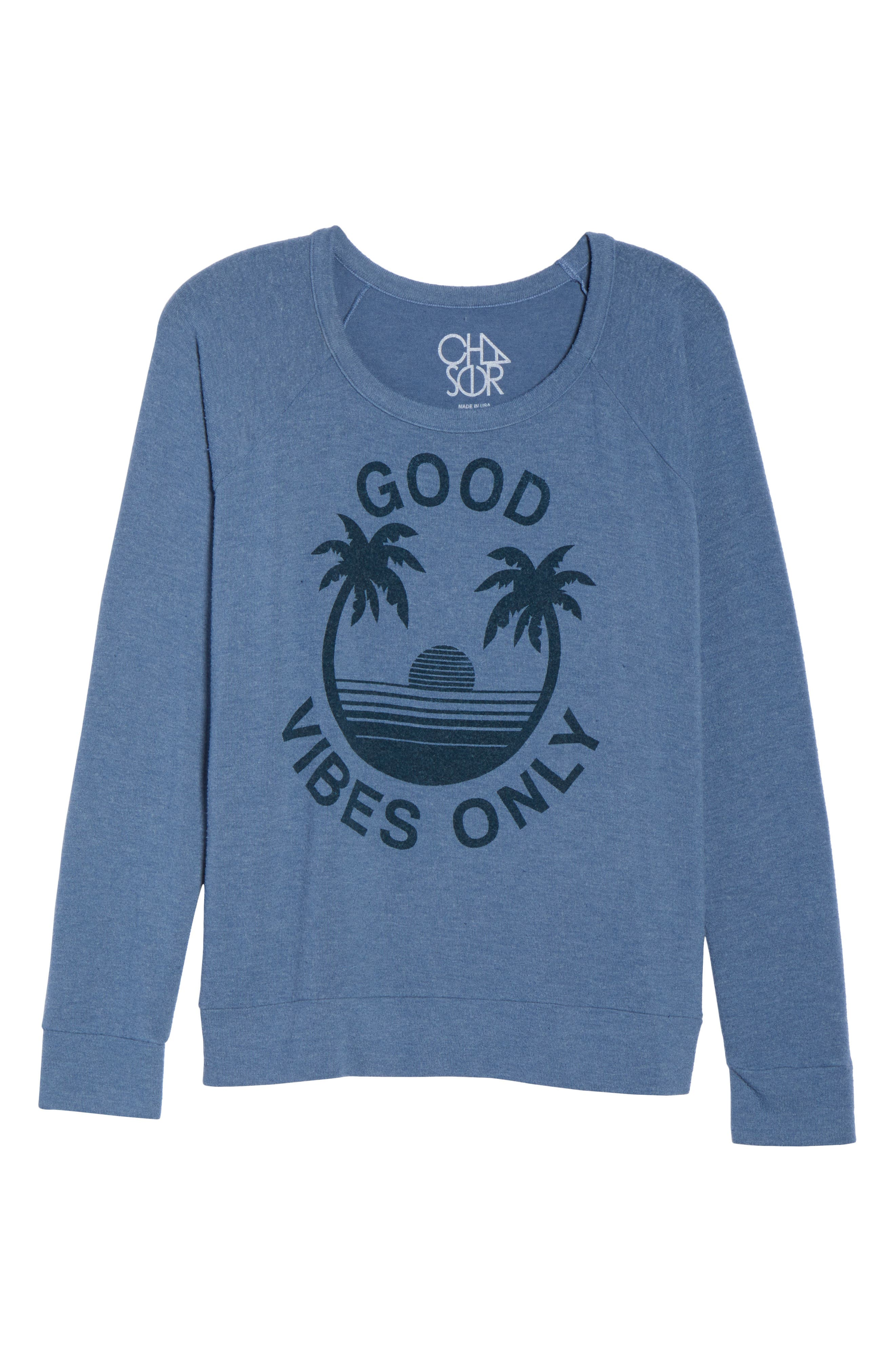 Alternate Image 4  - Chaser Good Vibes Only Pullover
