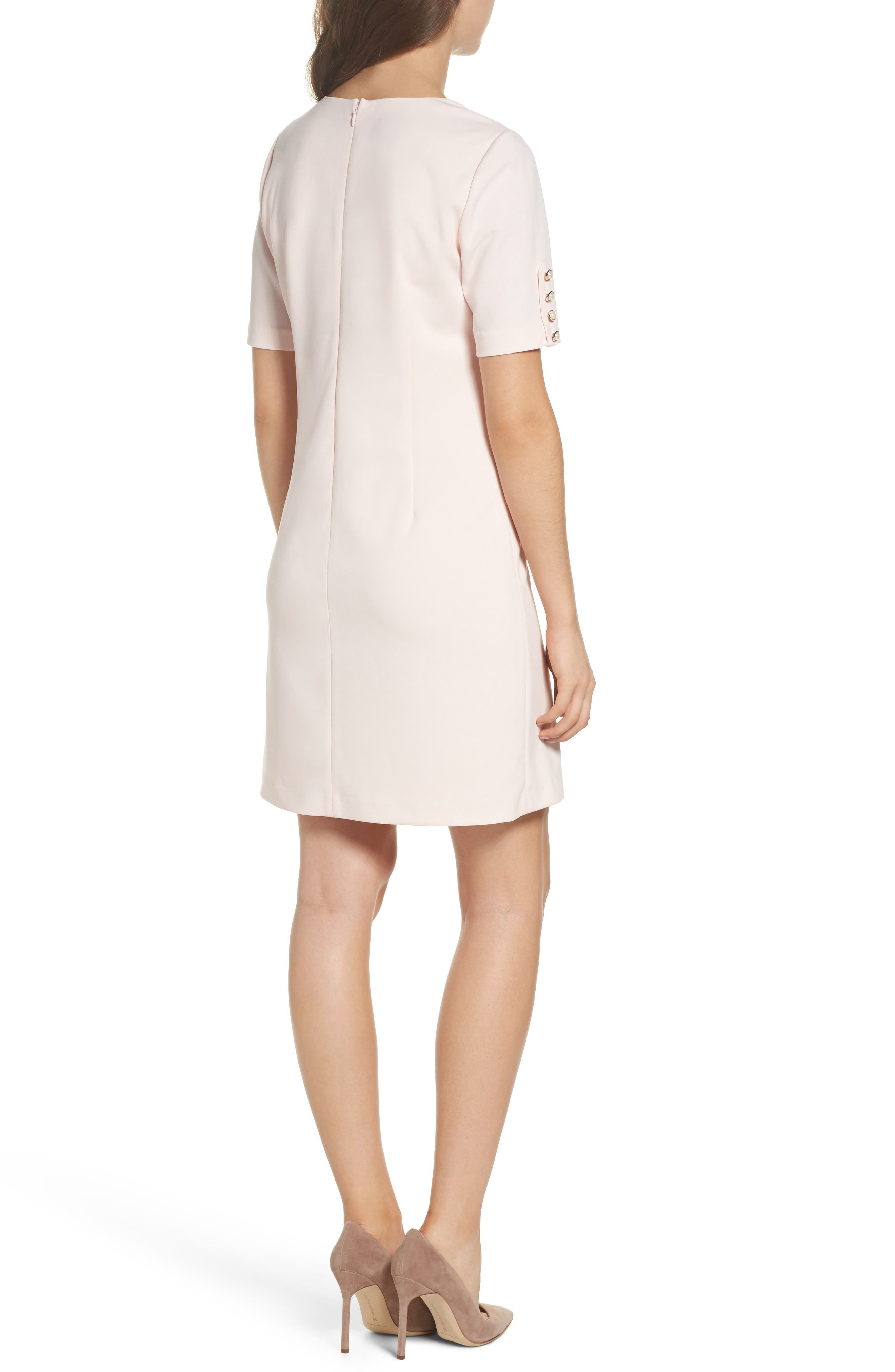 Alternate Image 2  - Adrianna Papell Button Sleeve Shift Dress
