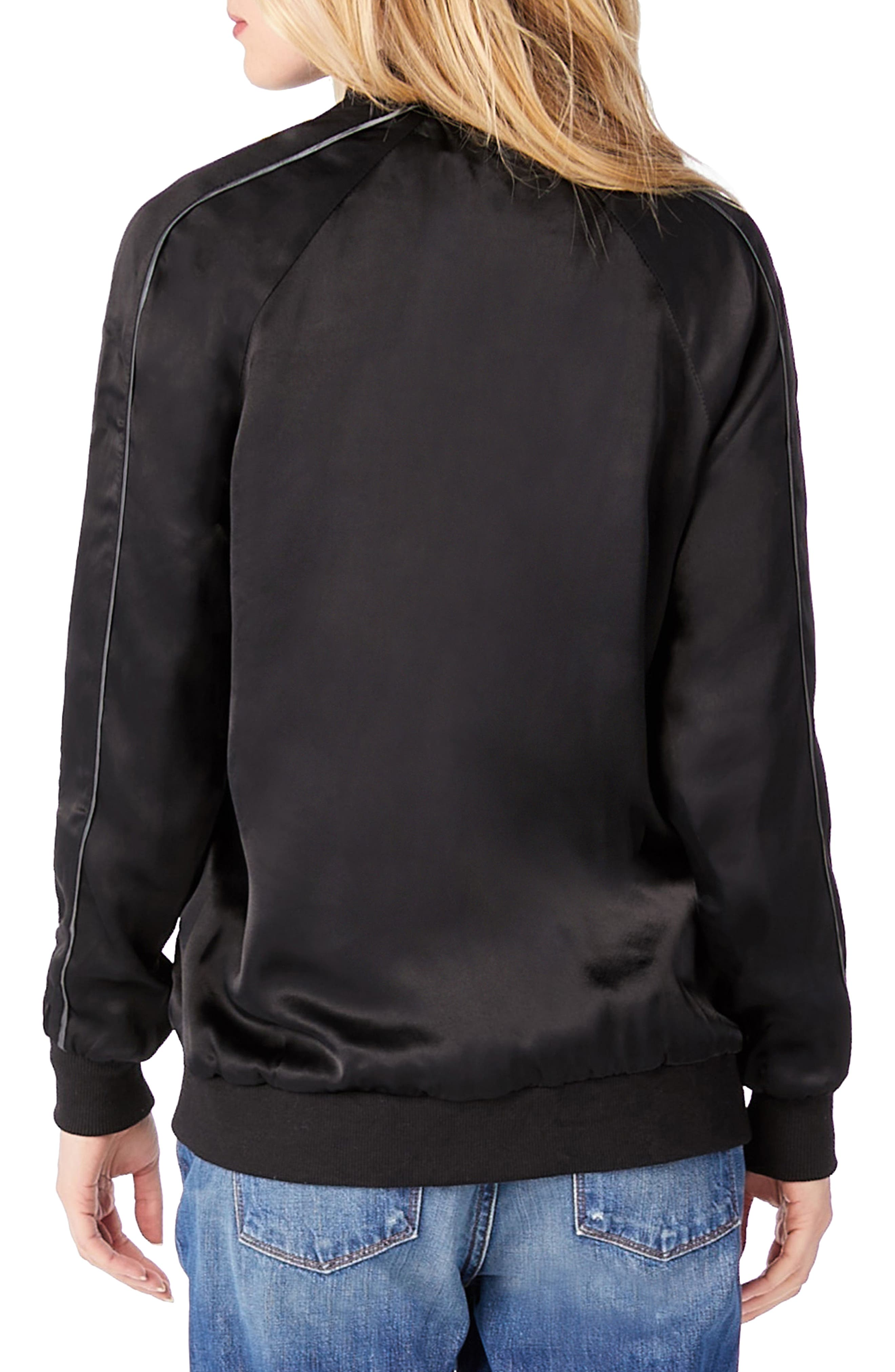 Bomber Jacket,                             Alternate thumbnail 2, color,                             Black