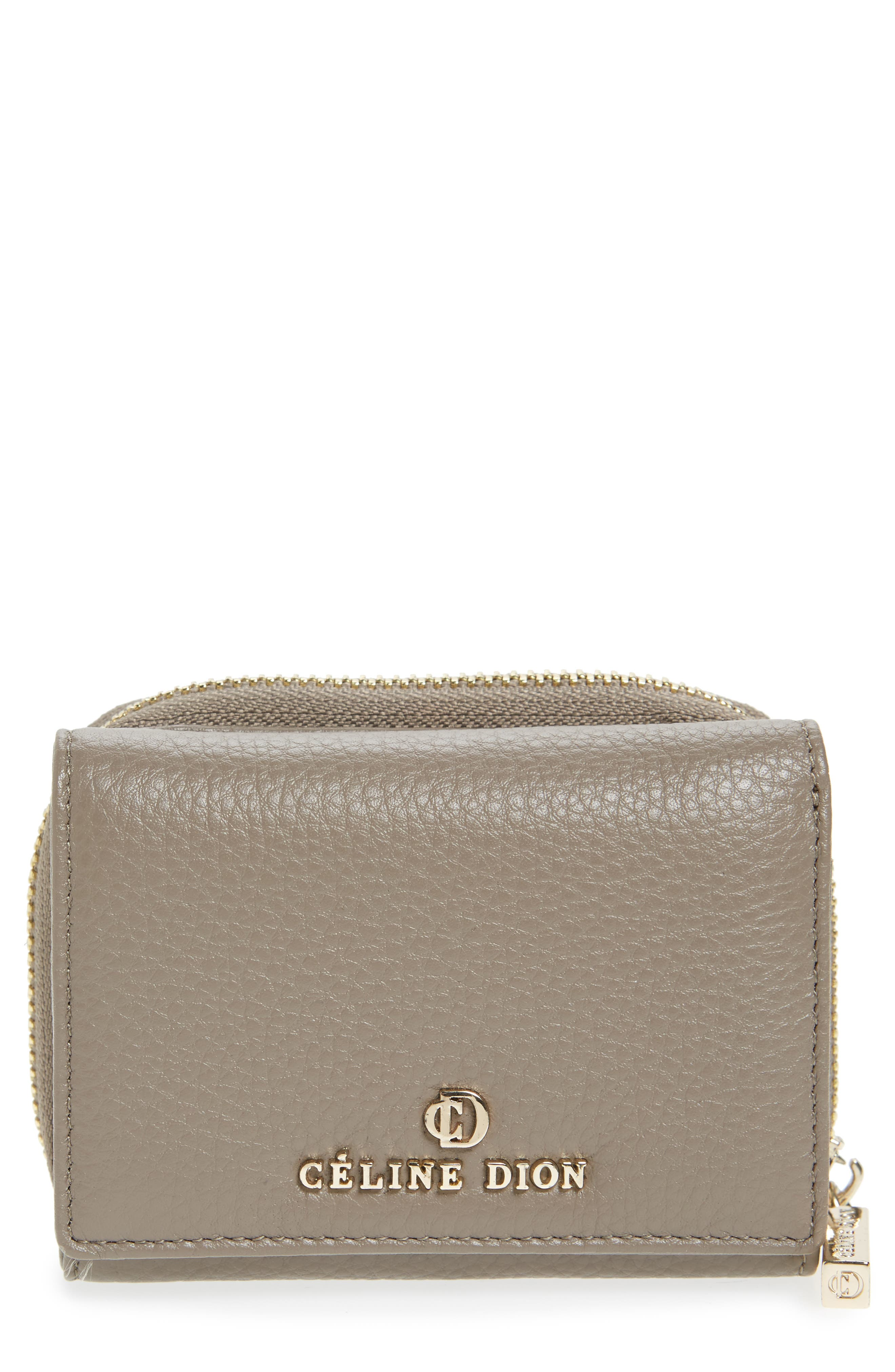 Céline Dion Small Adagio Leather Wallet,                         Main,                         color, Taupe