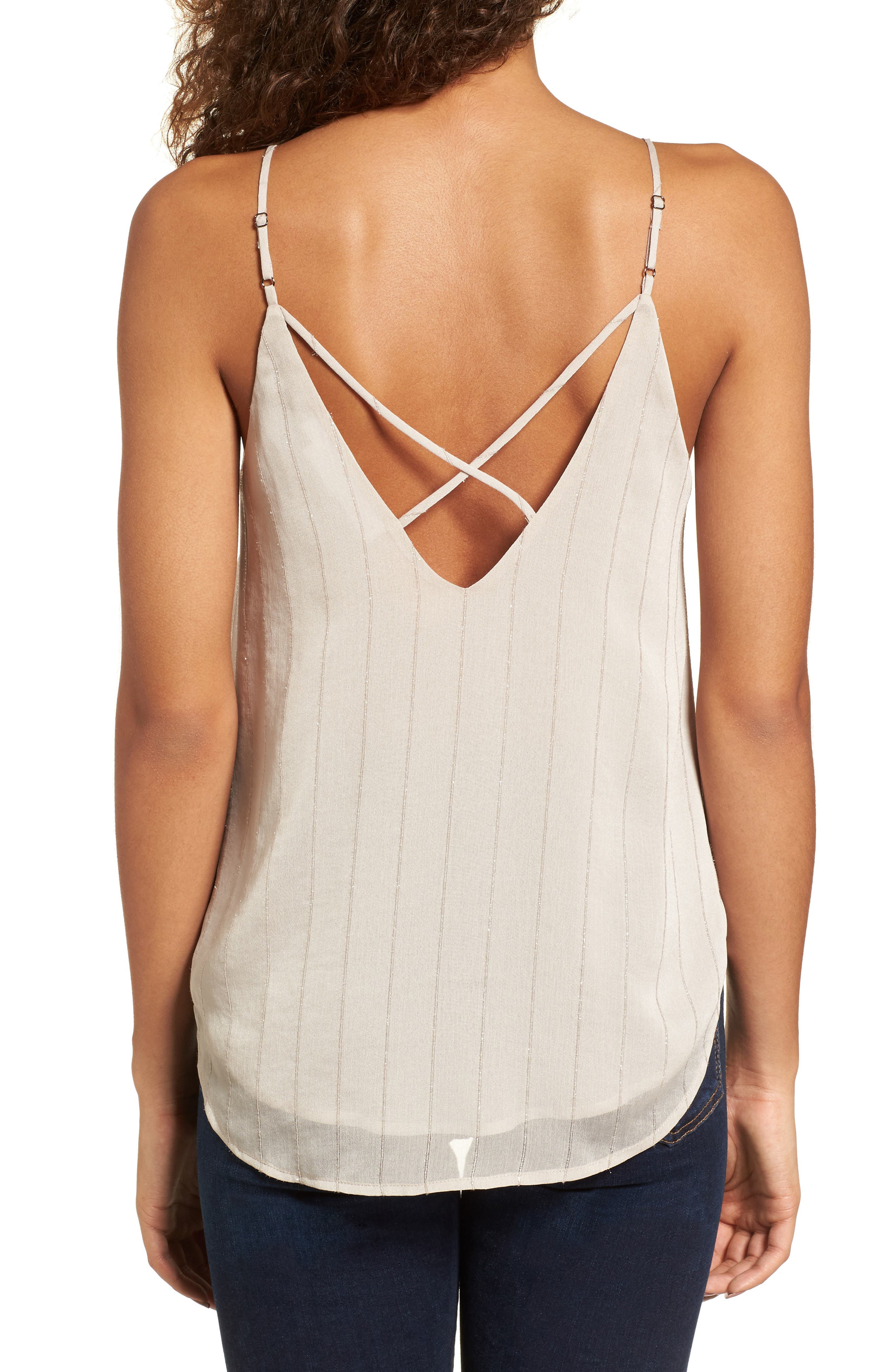 Lace-Up Camisole,                             Alternate thumbnail 2, color,                             Grey Chateau