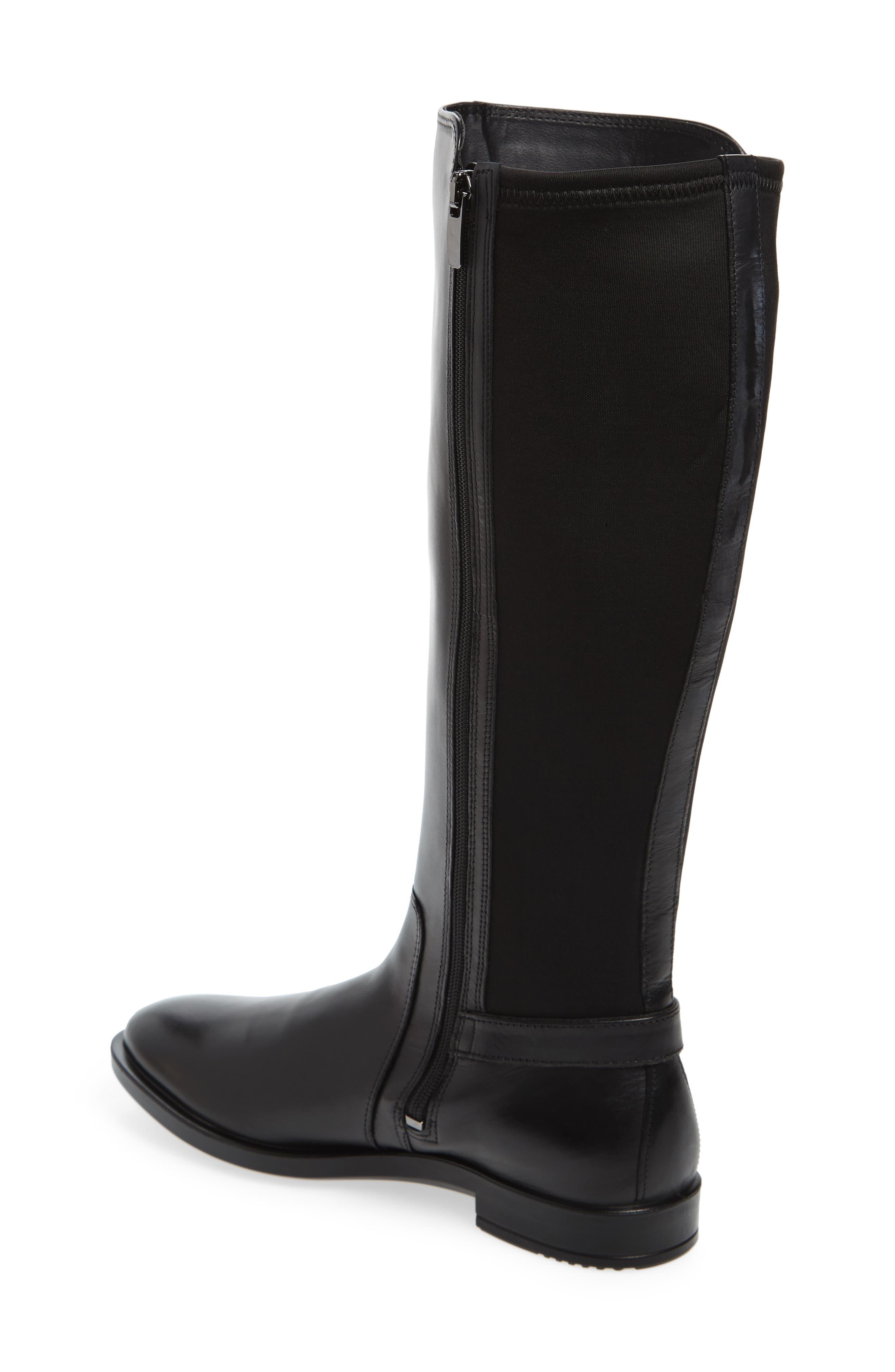 Shape 15 Stretch Shaft Riding Boot,                             Alternate thumbnail 2, color,                             Black Leather