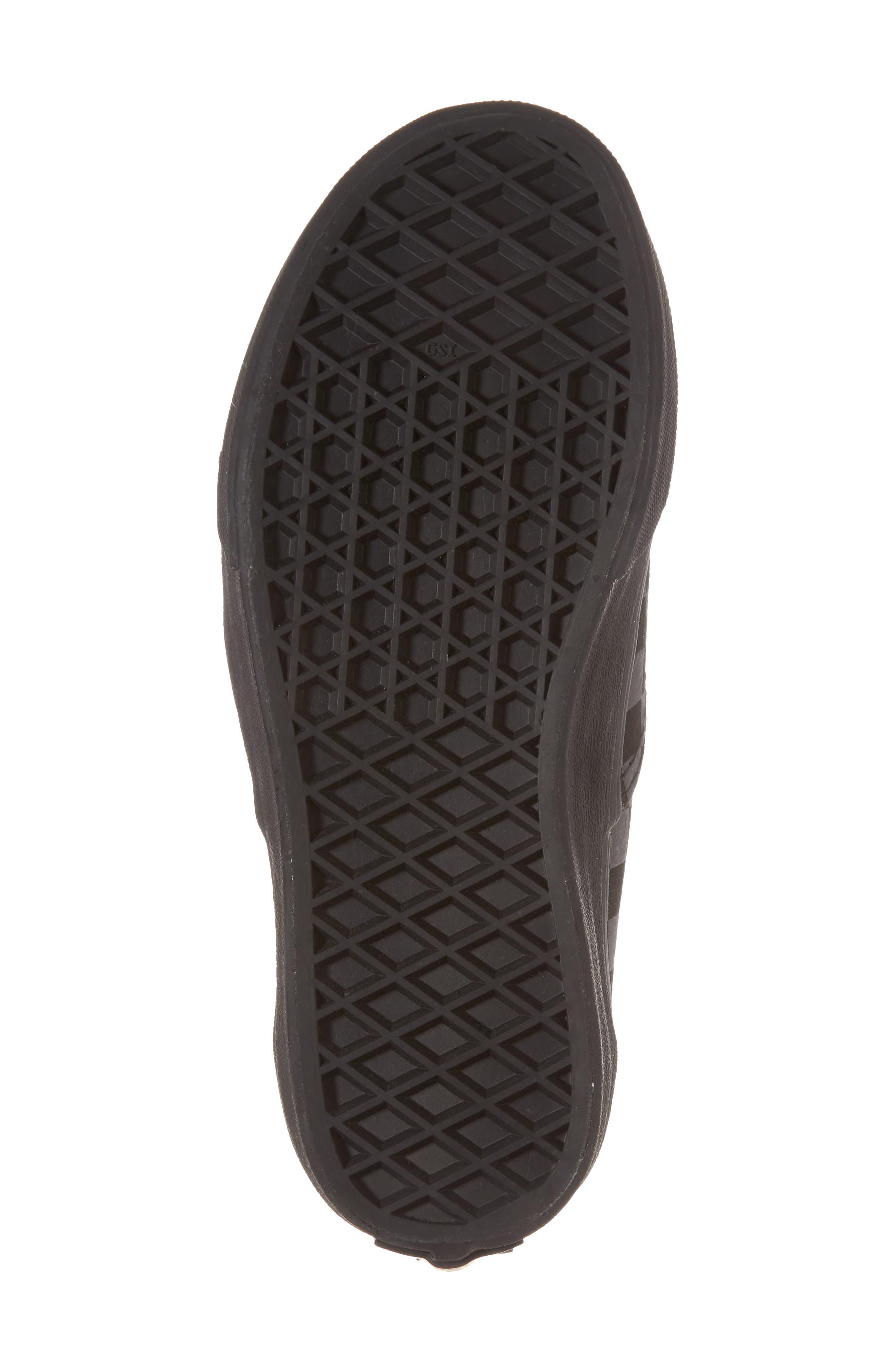 Reflective Checkerboard Authentic Sneaker,                             Alternate thumbnail 6, color,                             Asphalt/ Reflective