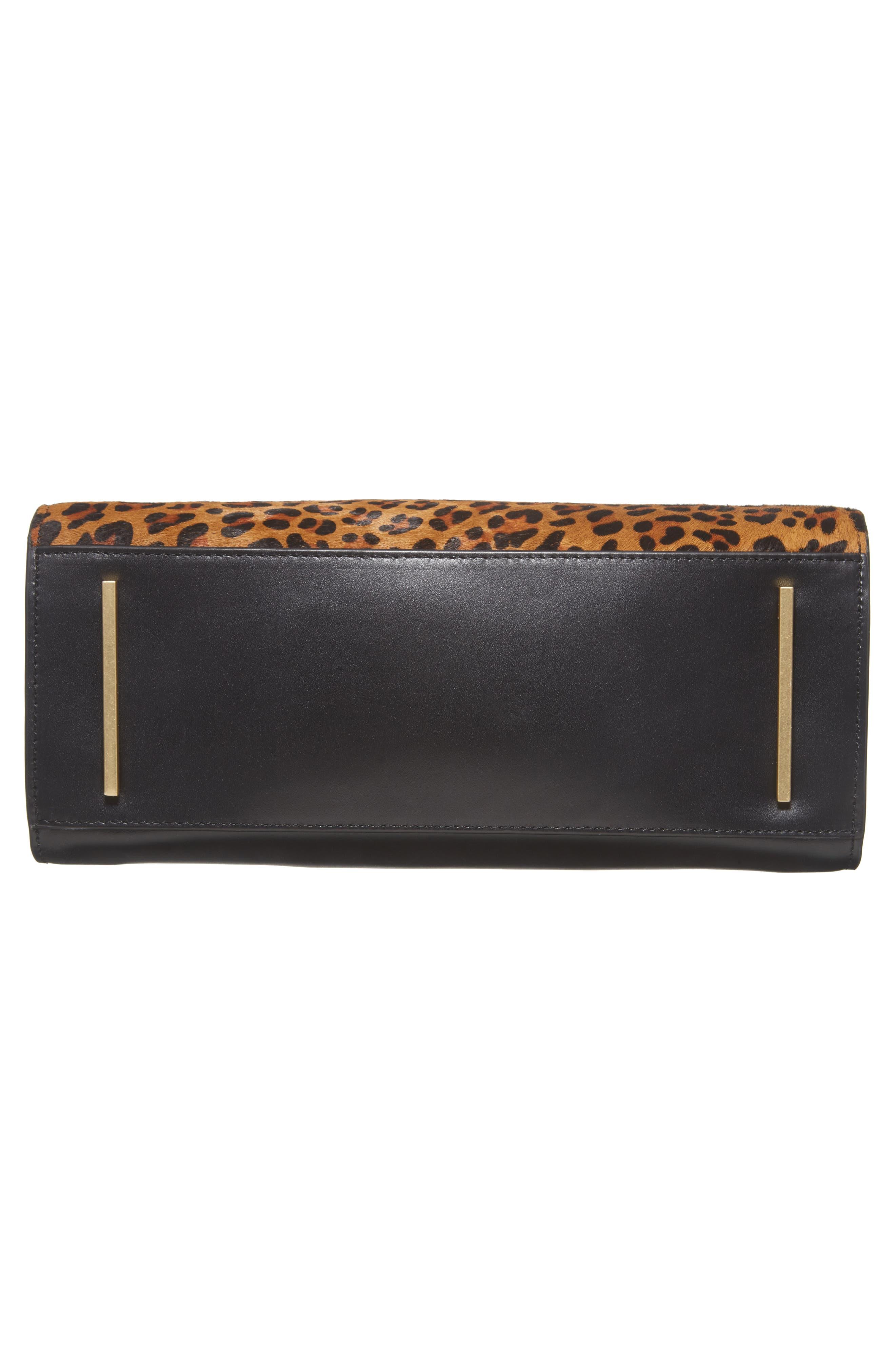 Céline Dion Leopard Print Genuine Calf Hair Octave Satchel,                             Alternate thumbnail 6, color,                             Leopard
