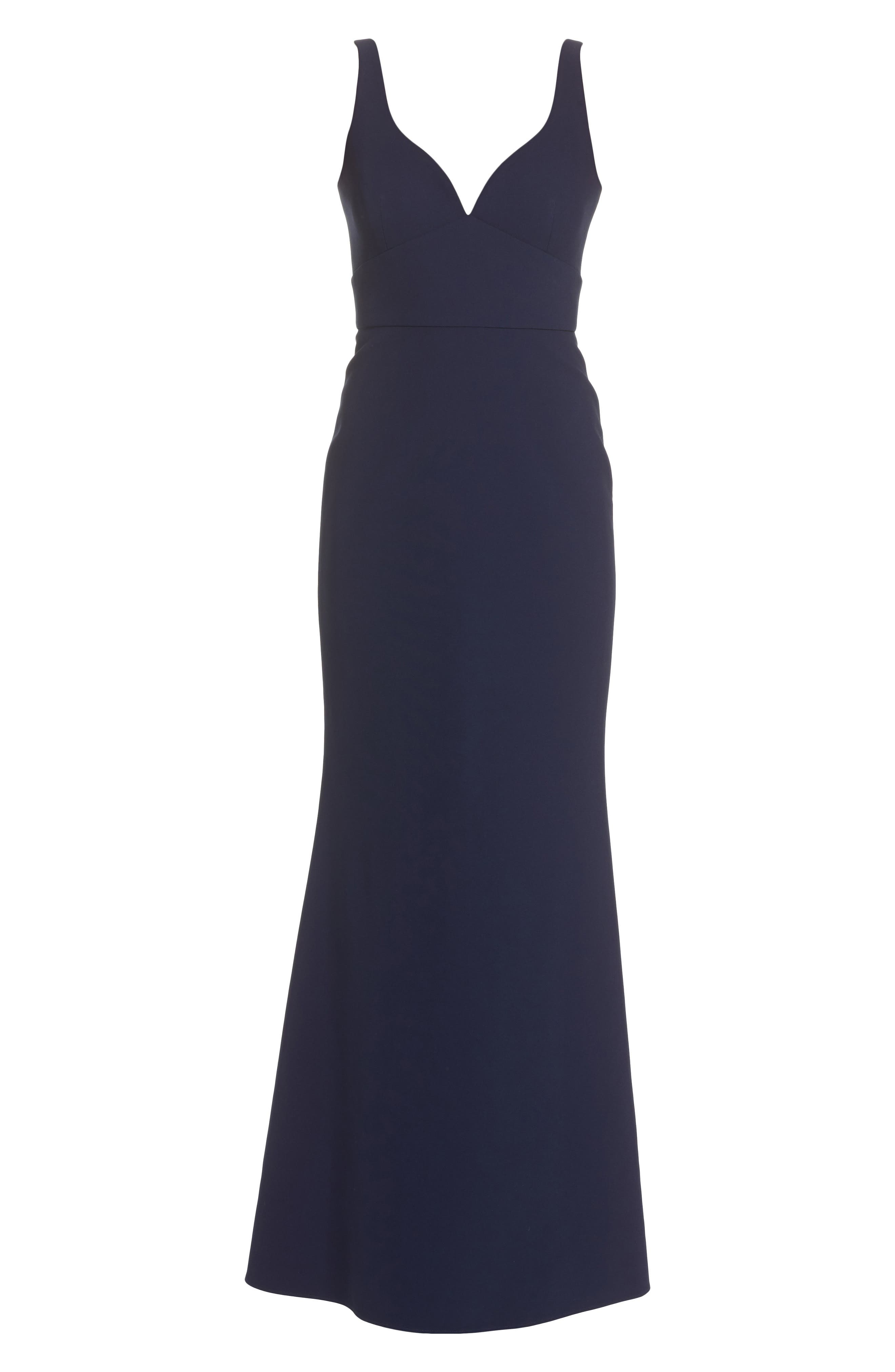 Gown,                             Alternate thumbnail 6, color,                             Midnight Blue