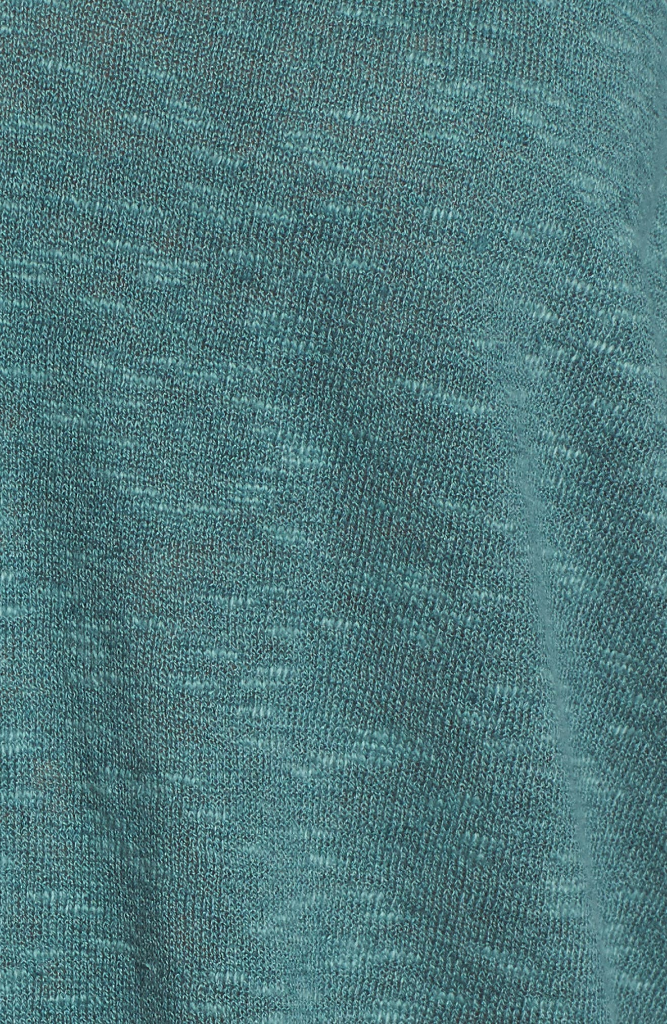 Organic Linen & Cotton Sweater,                             Alternate thumbnail 5, color,                             Teal