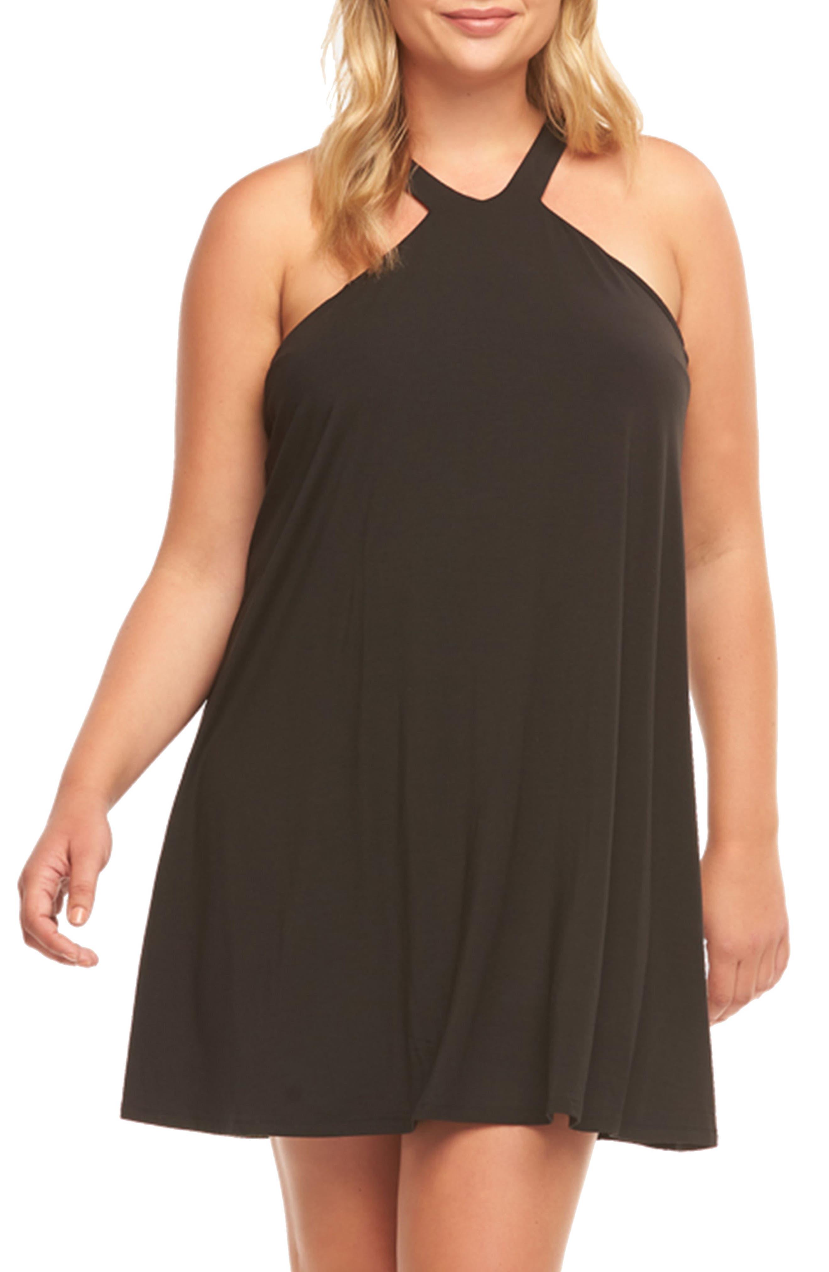 Rise Minidress,                         Main,                         color, Black