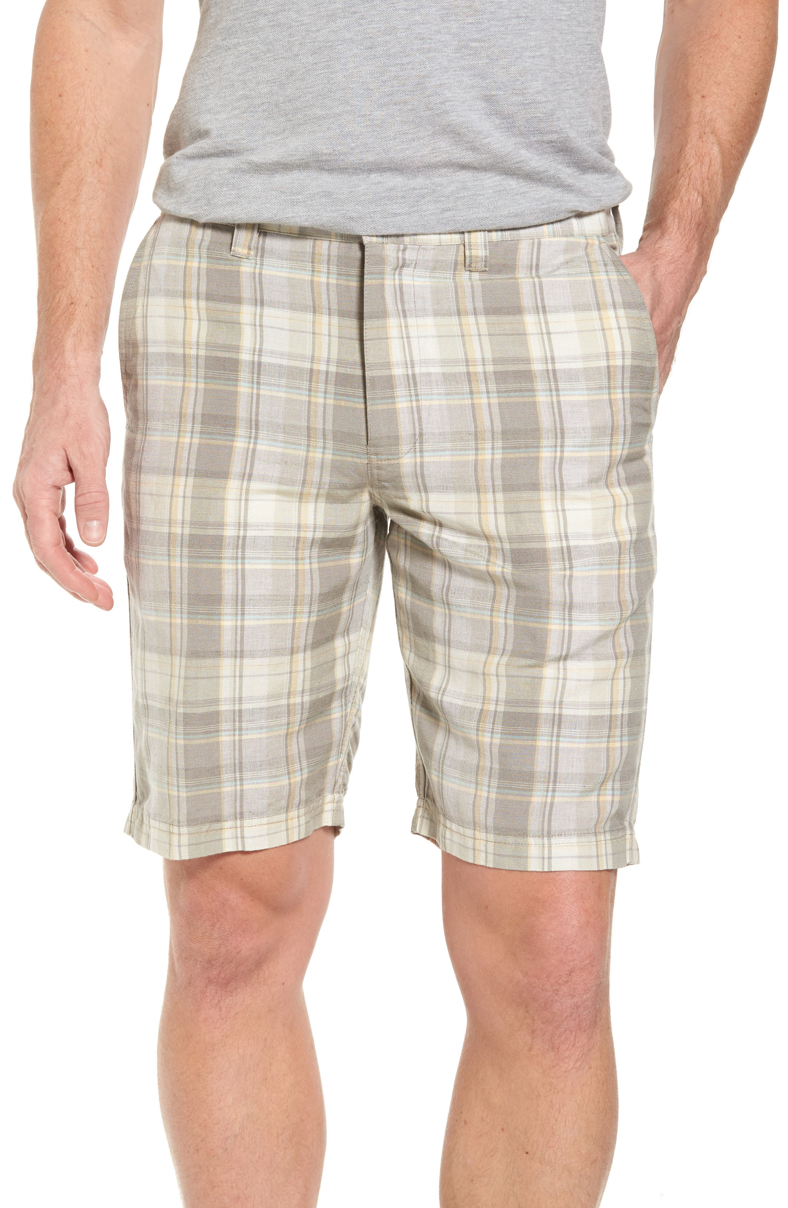 Coastal Dunes Plaid Shorts,                         Main,                         color, Khaki
