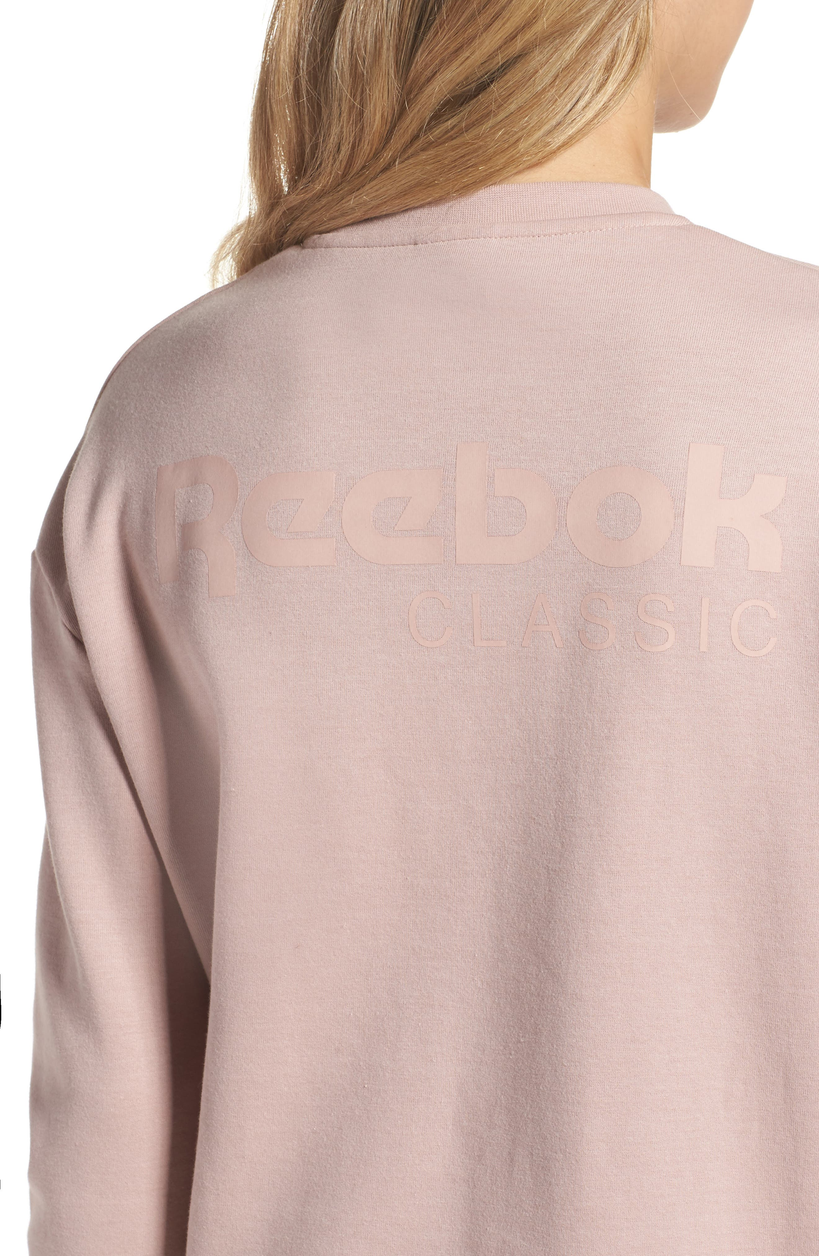 Oversized Sweatshirt,                             Alternate thumbnail 4, color,                             Shell Pink