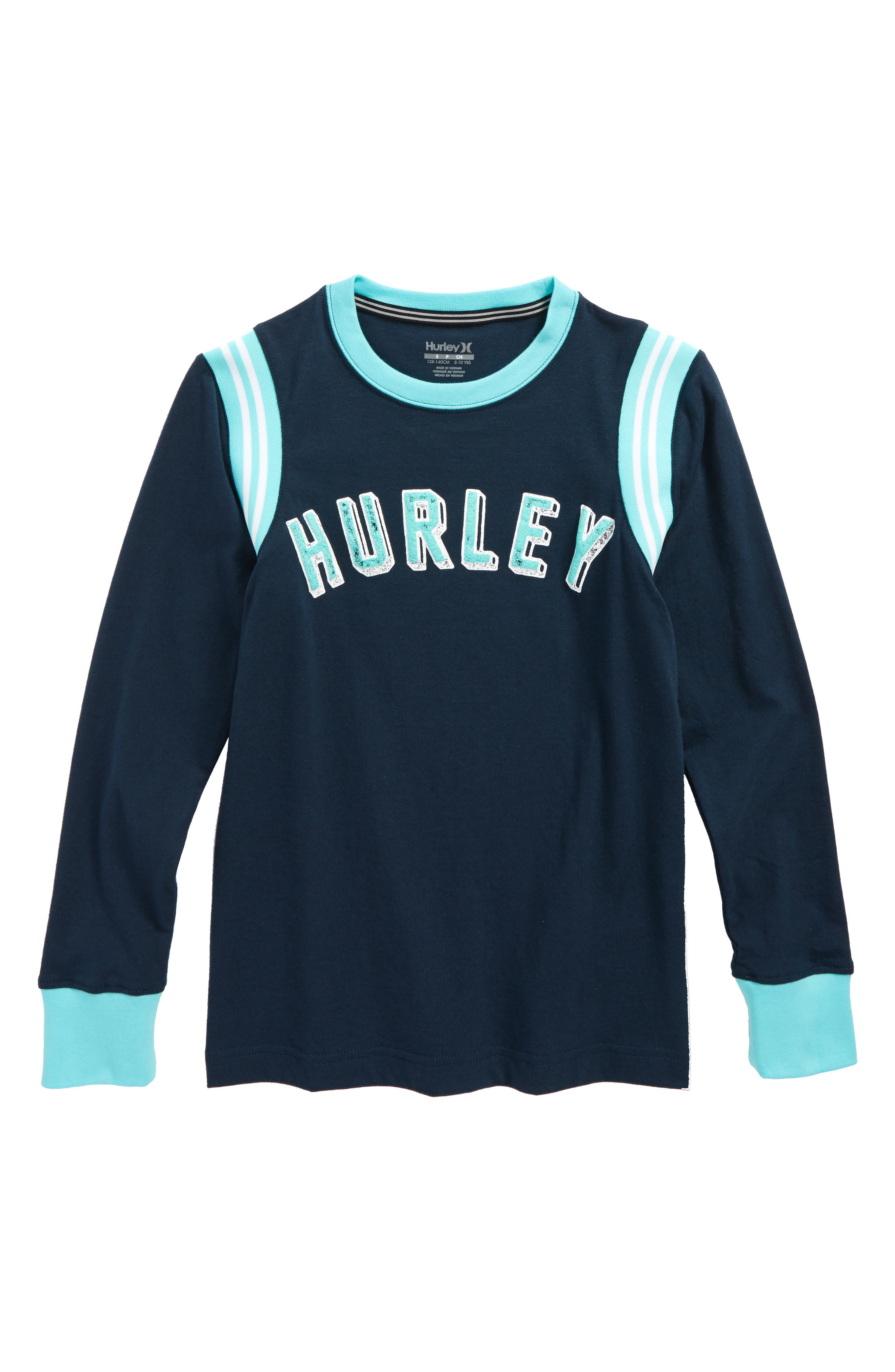 Hurley Collegiate Logo Graphic Long Sleeve T-Shirt (Big Boys)