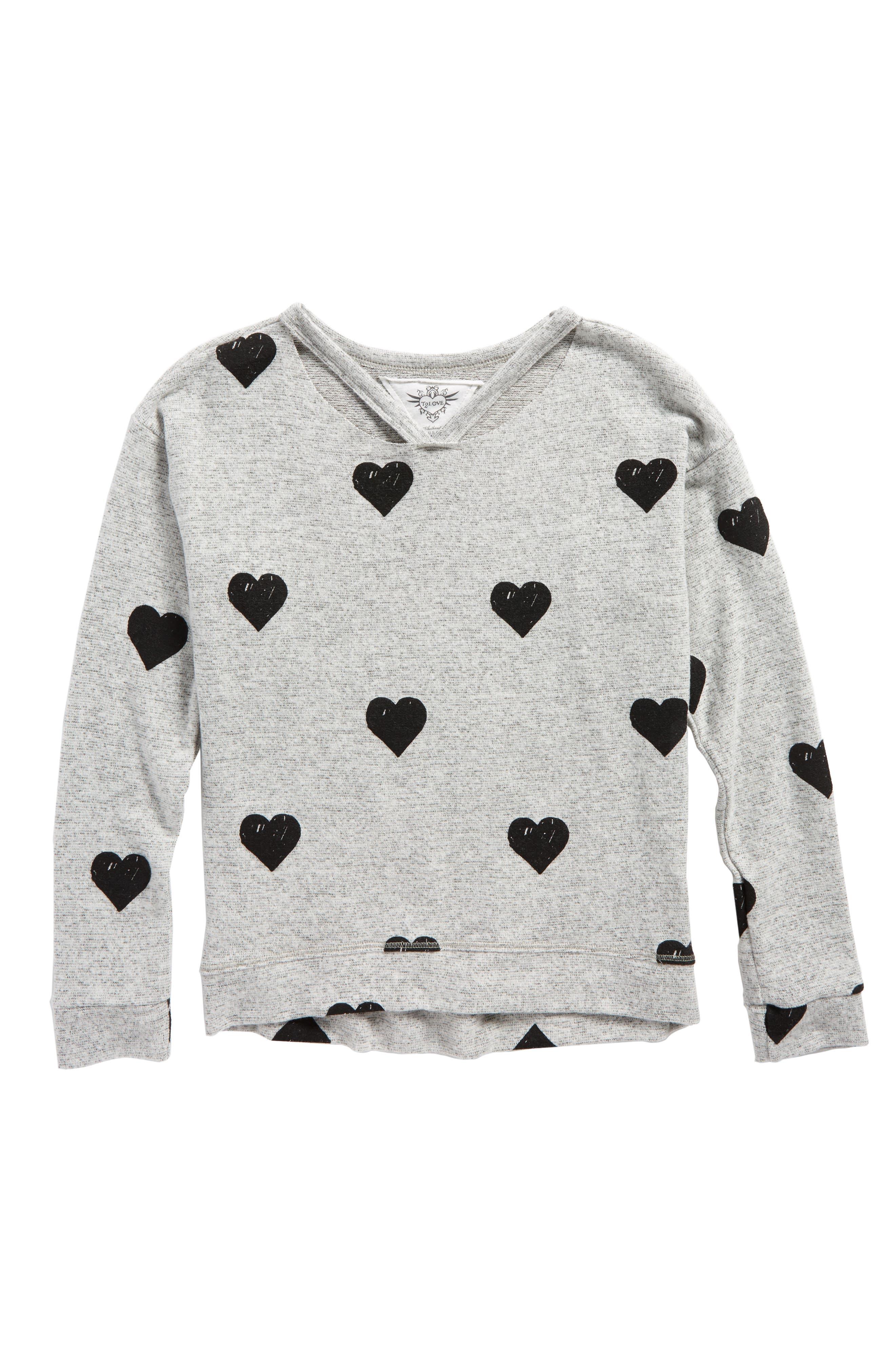 T2 Love Hachi Print Pullover (Big Girls)