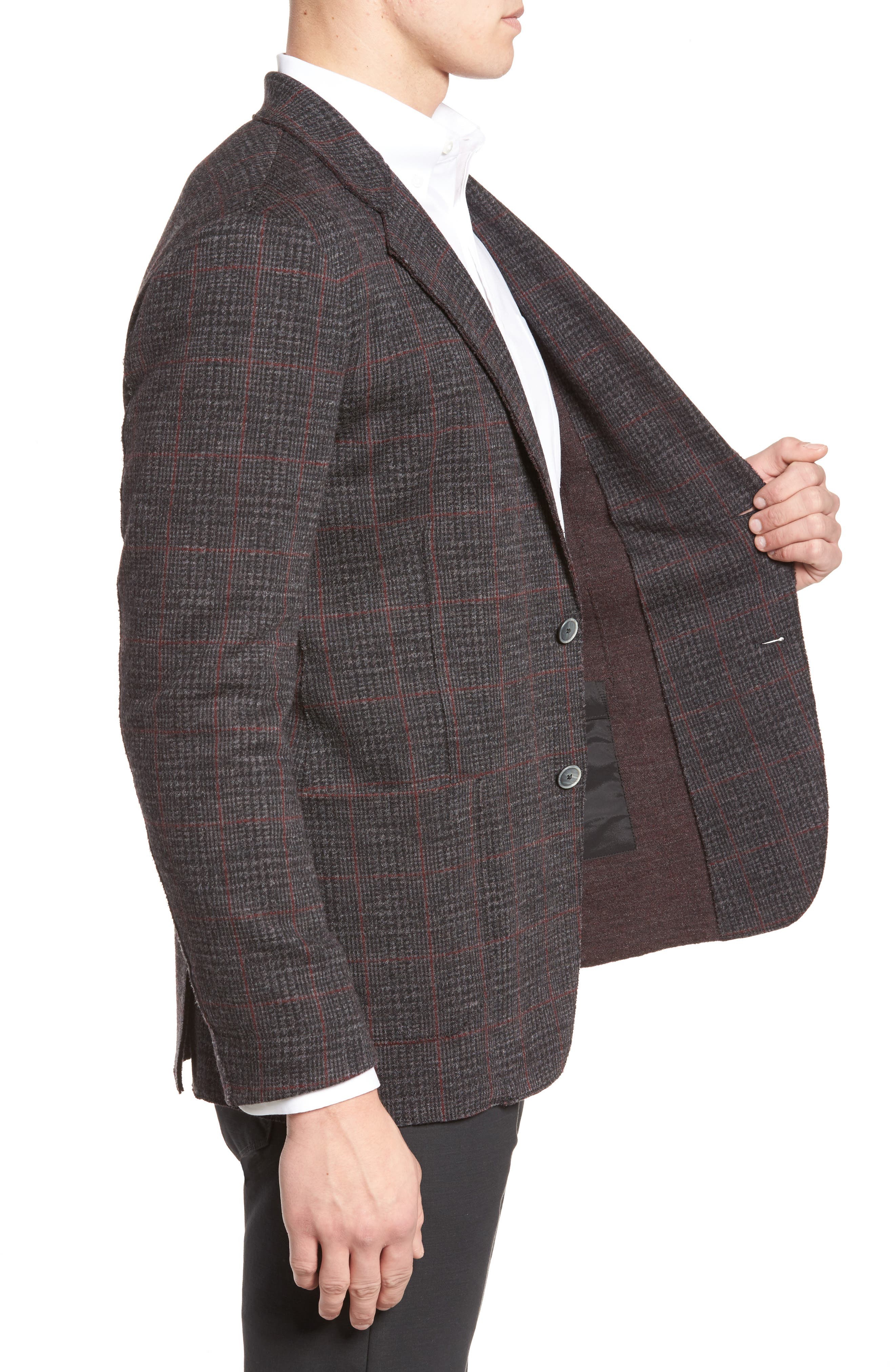 Alternate Image 3  - Bugatchi Plaid Wool Blazer