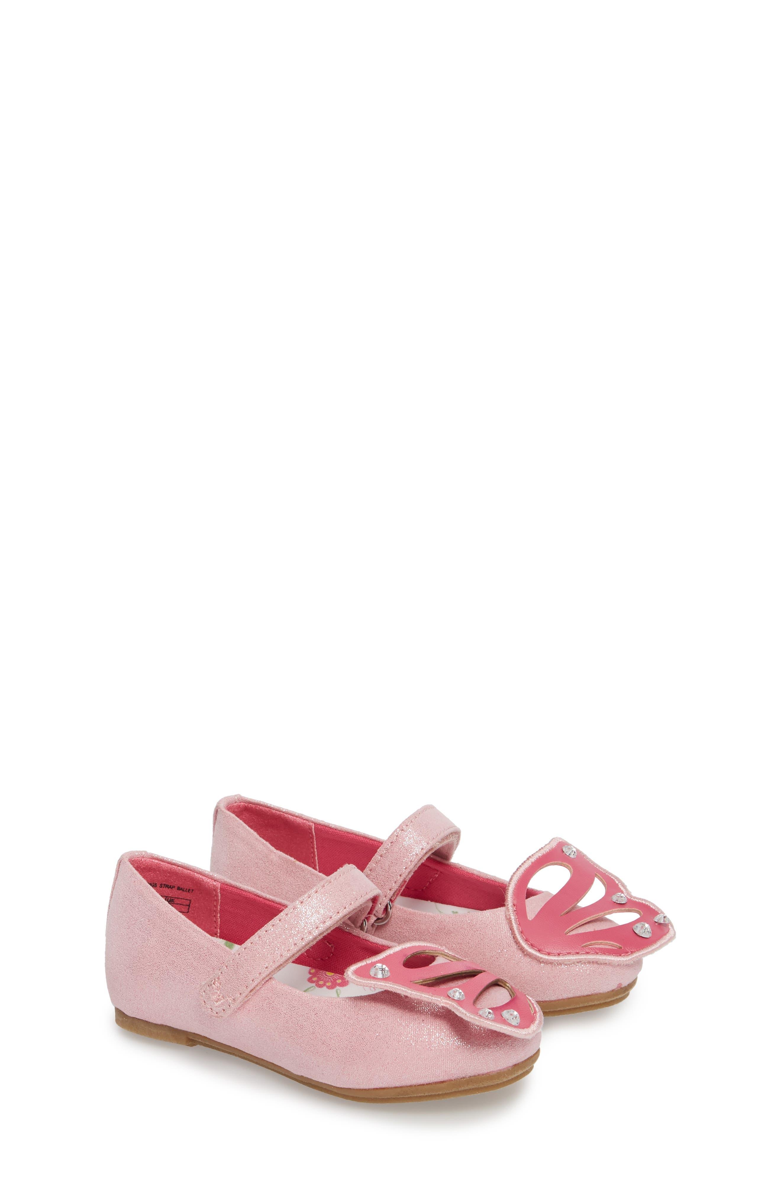 Flutter Wings Embellished Ballet Flat,                         Main,                         color, Light Pink