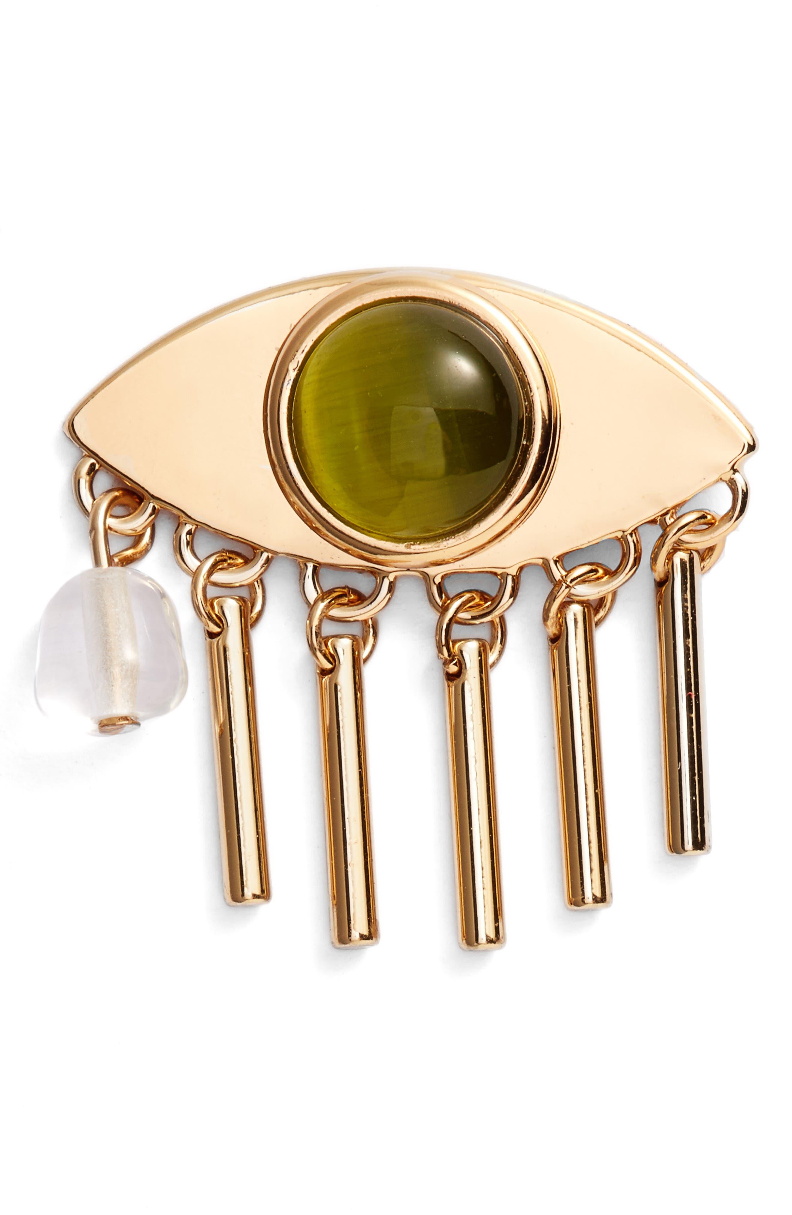 La Fille Pin,                             Main thumbnail 1, color,                             Gold