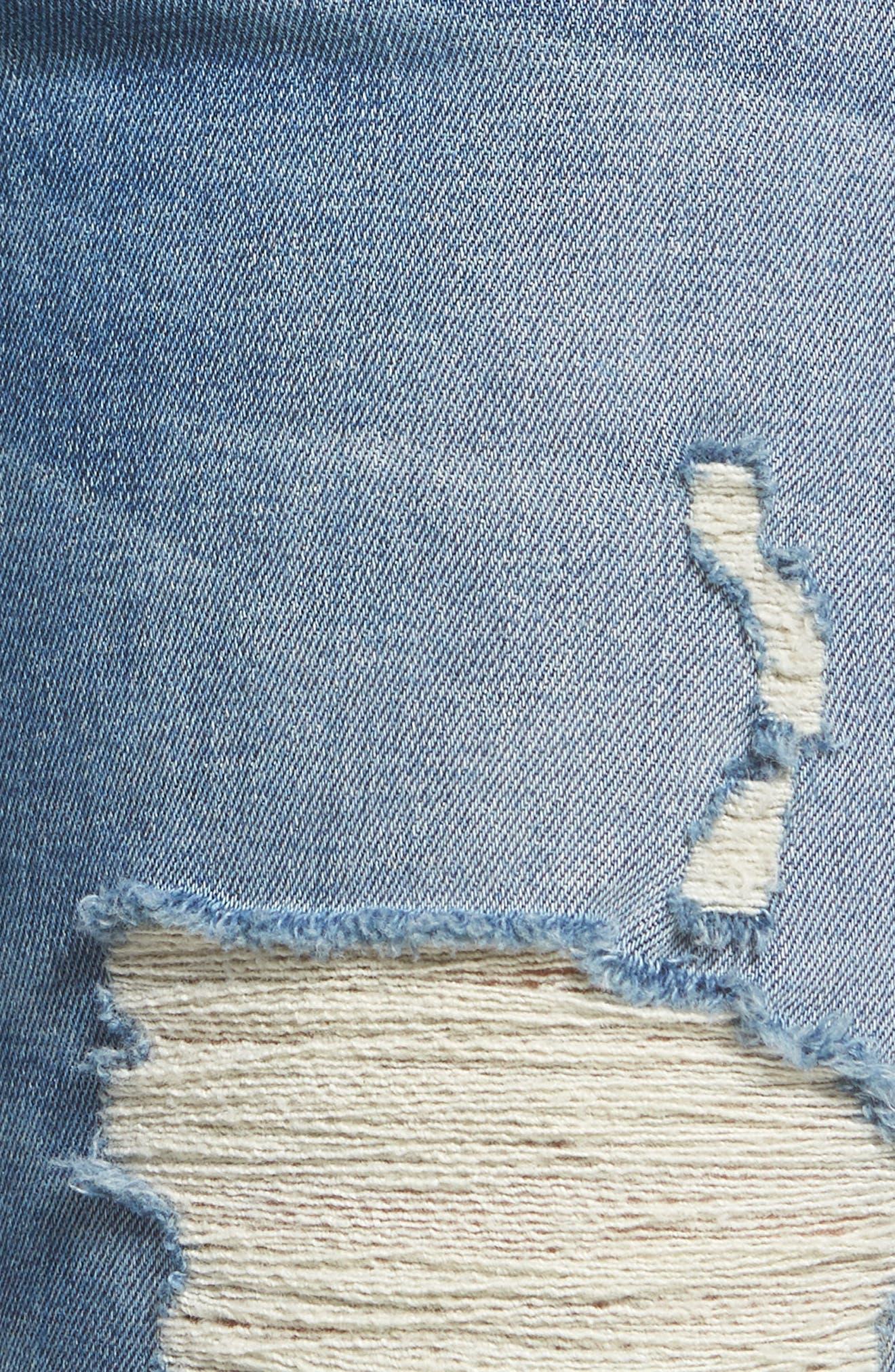 Zoeey High Waist Ankle Straight Leg Jeans,                             Alternate thumbnail 6, color,                             Kool