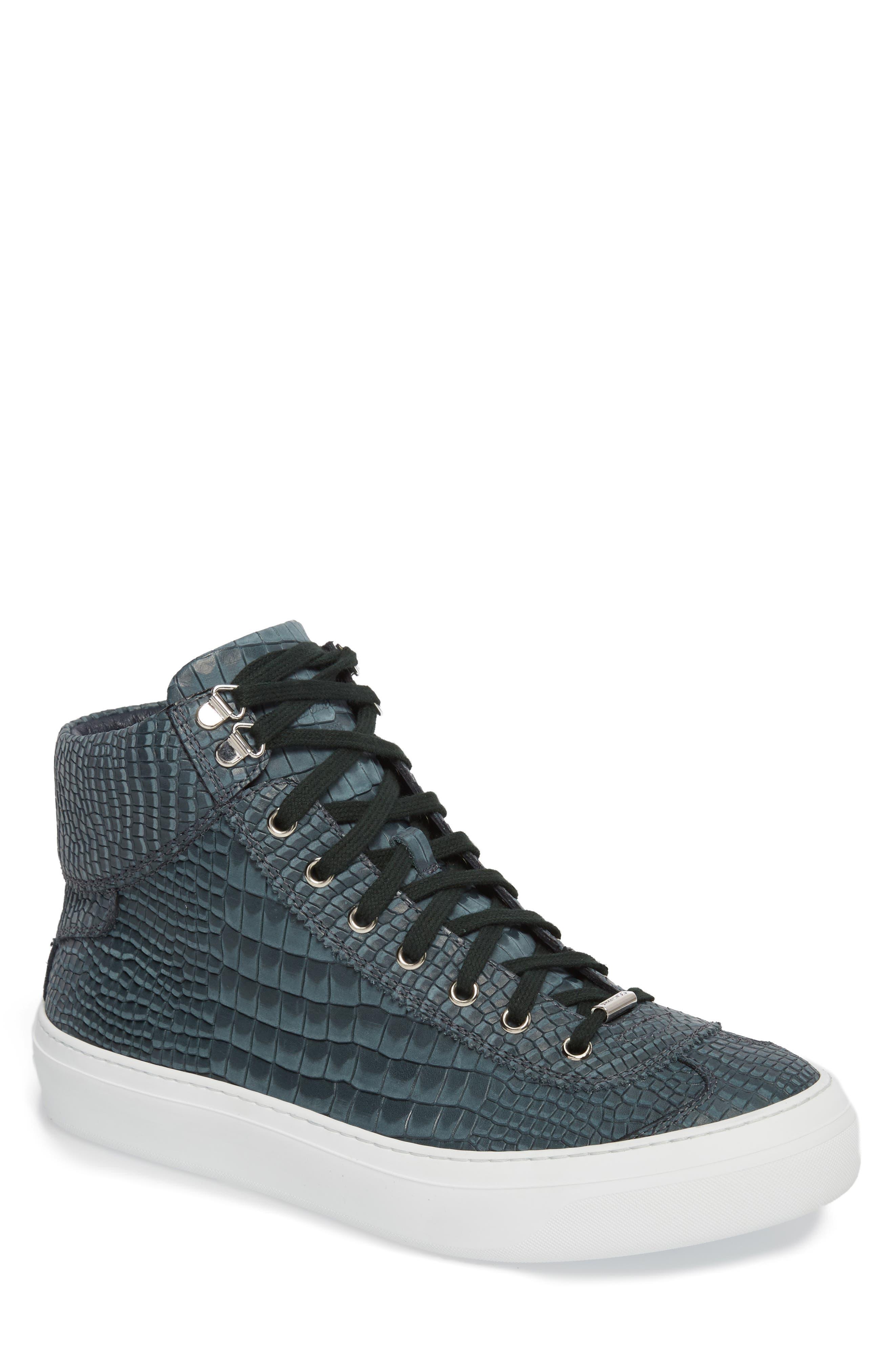 Argyle Sneaker,                         Main,                         color, Dark Pavone Nubuck