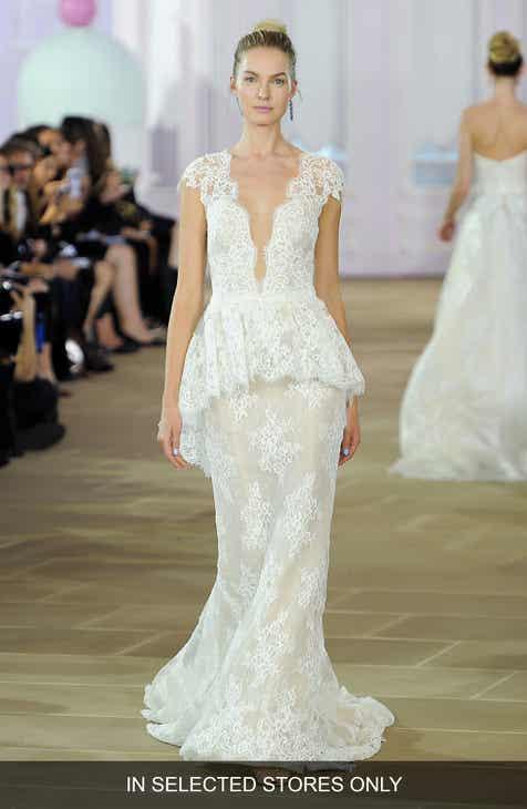 Peplum Wedding Dresses & Bridal Gowns | Nordstrom
