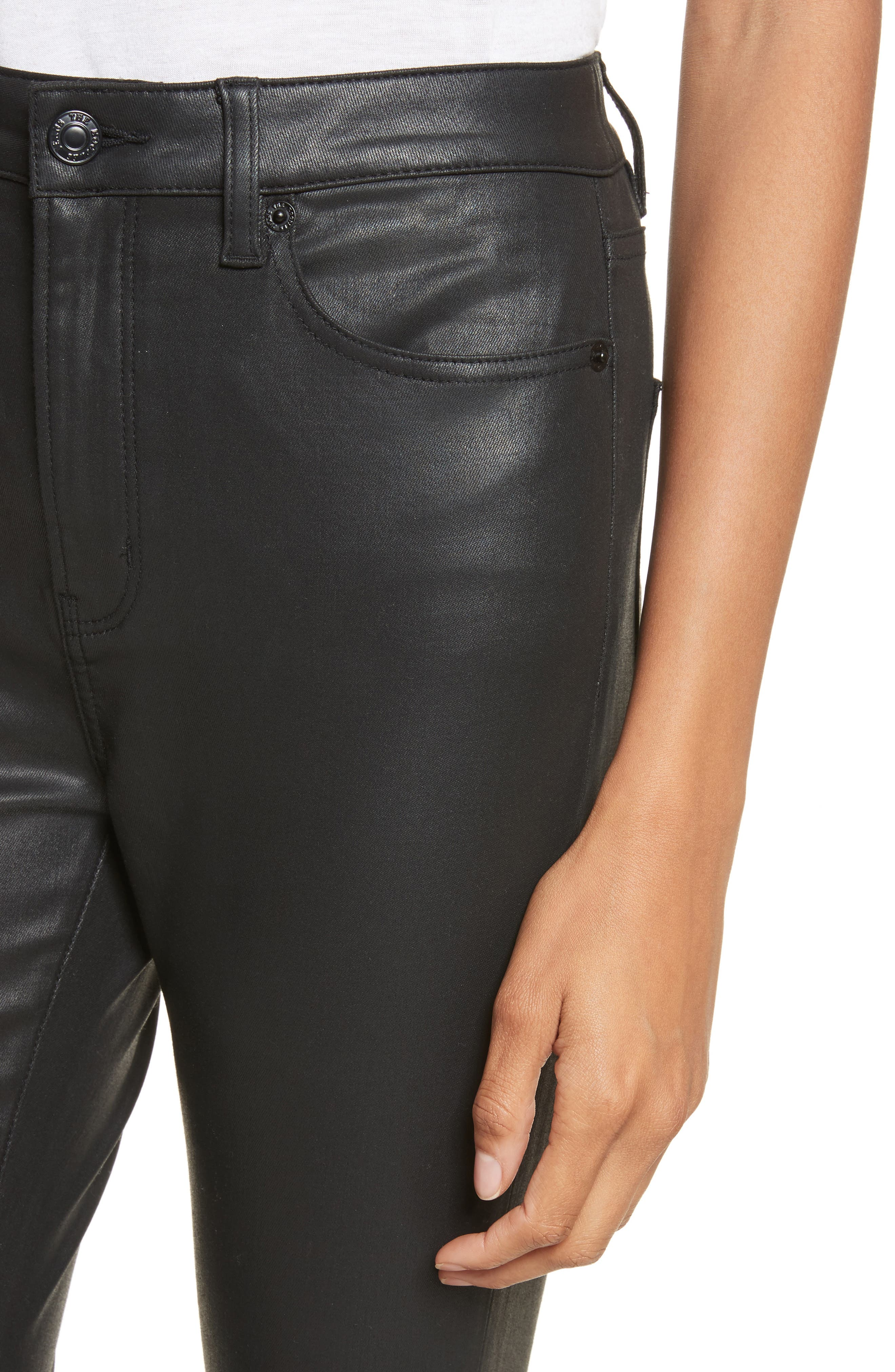 Alternate Image 4  - The Kooples Coated Stretch Ankle Skinny Jeans