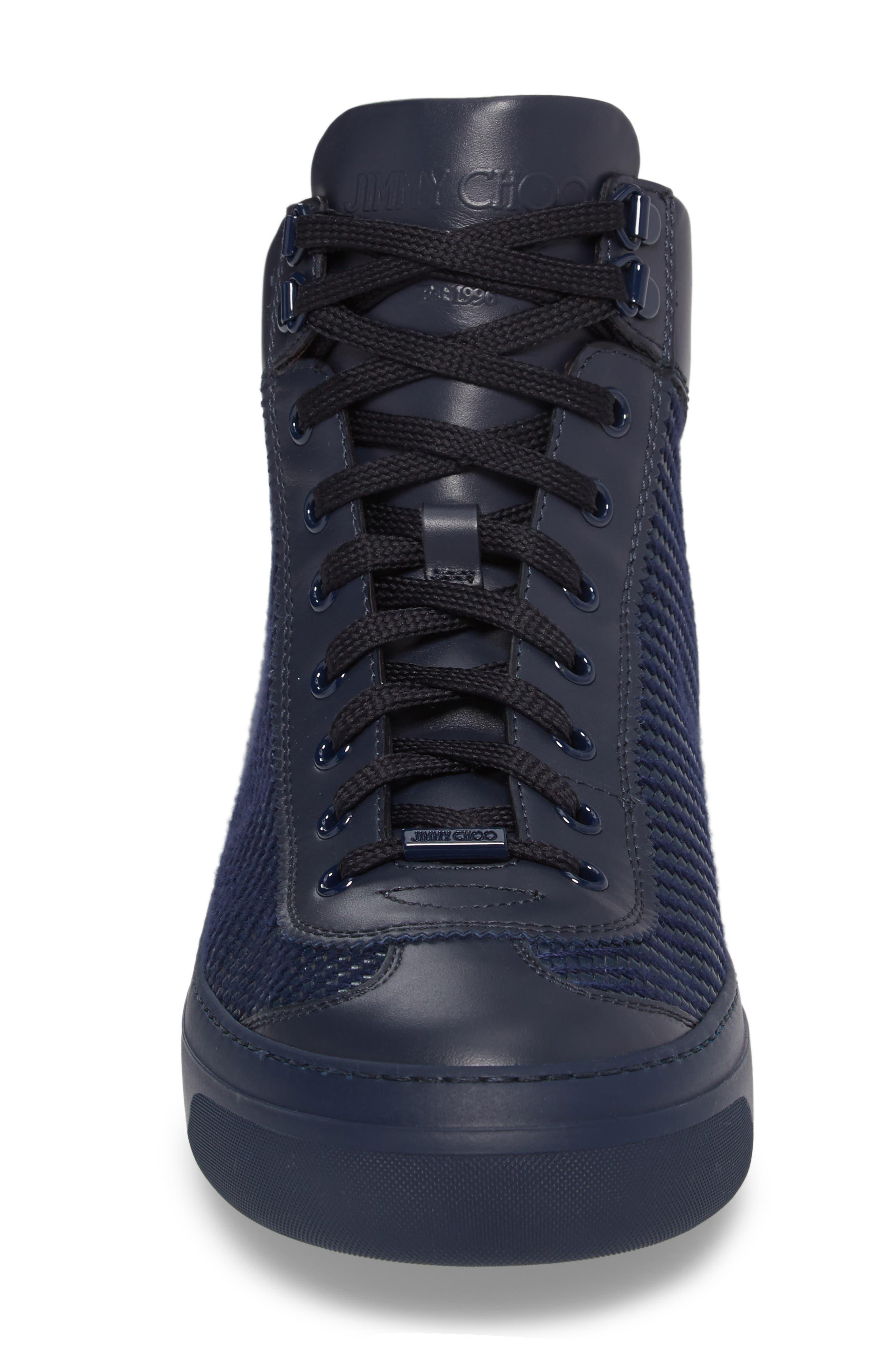 Argyle Sneaker,                             Alternate thumbnail 4, color,                             Navy