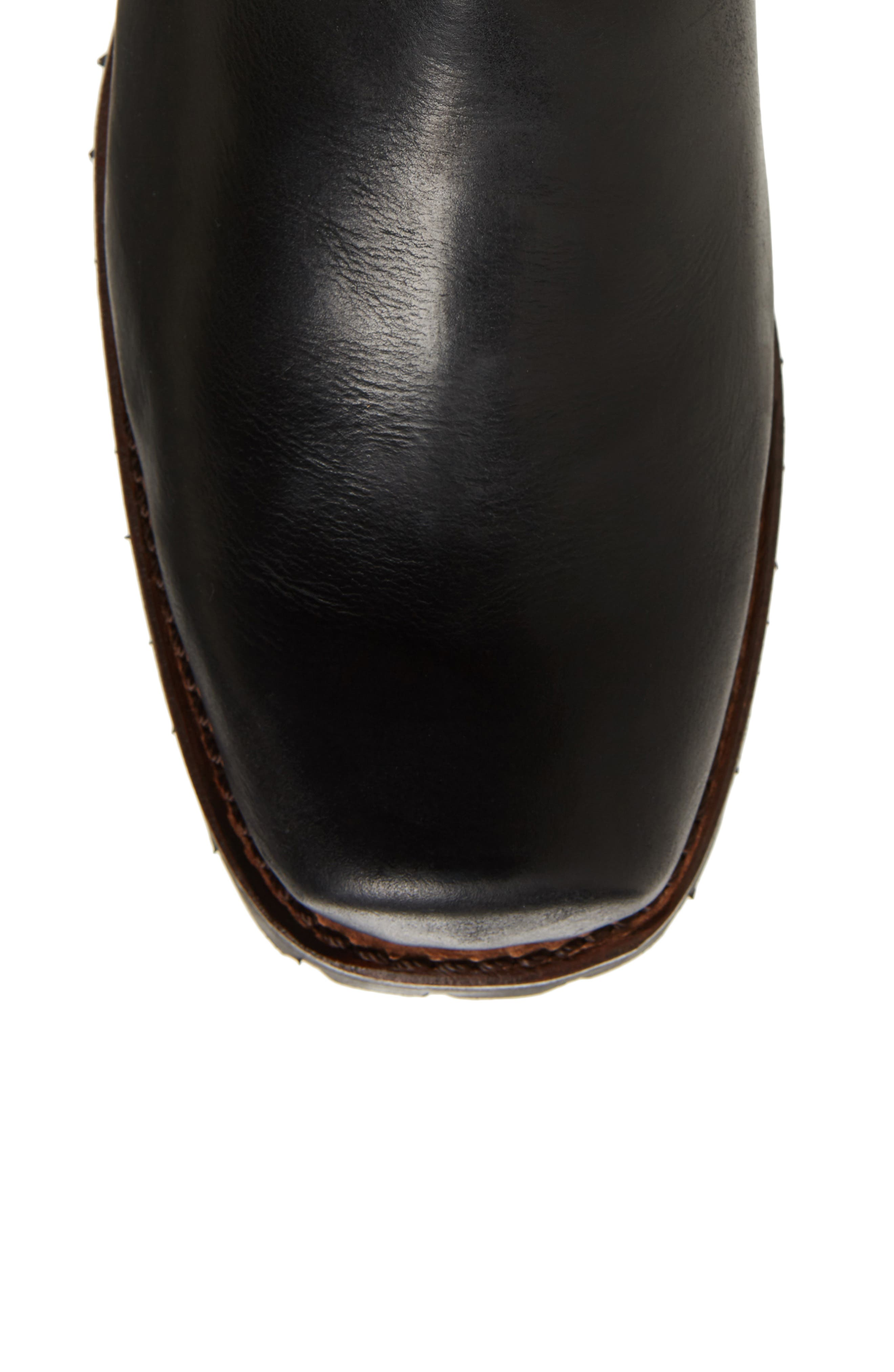 Addison Waterproof Harness Boot,                             Alternate thumbnail 5, color,                             Black Leather