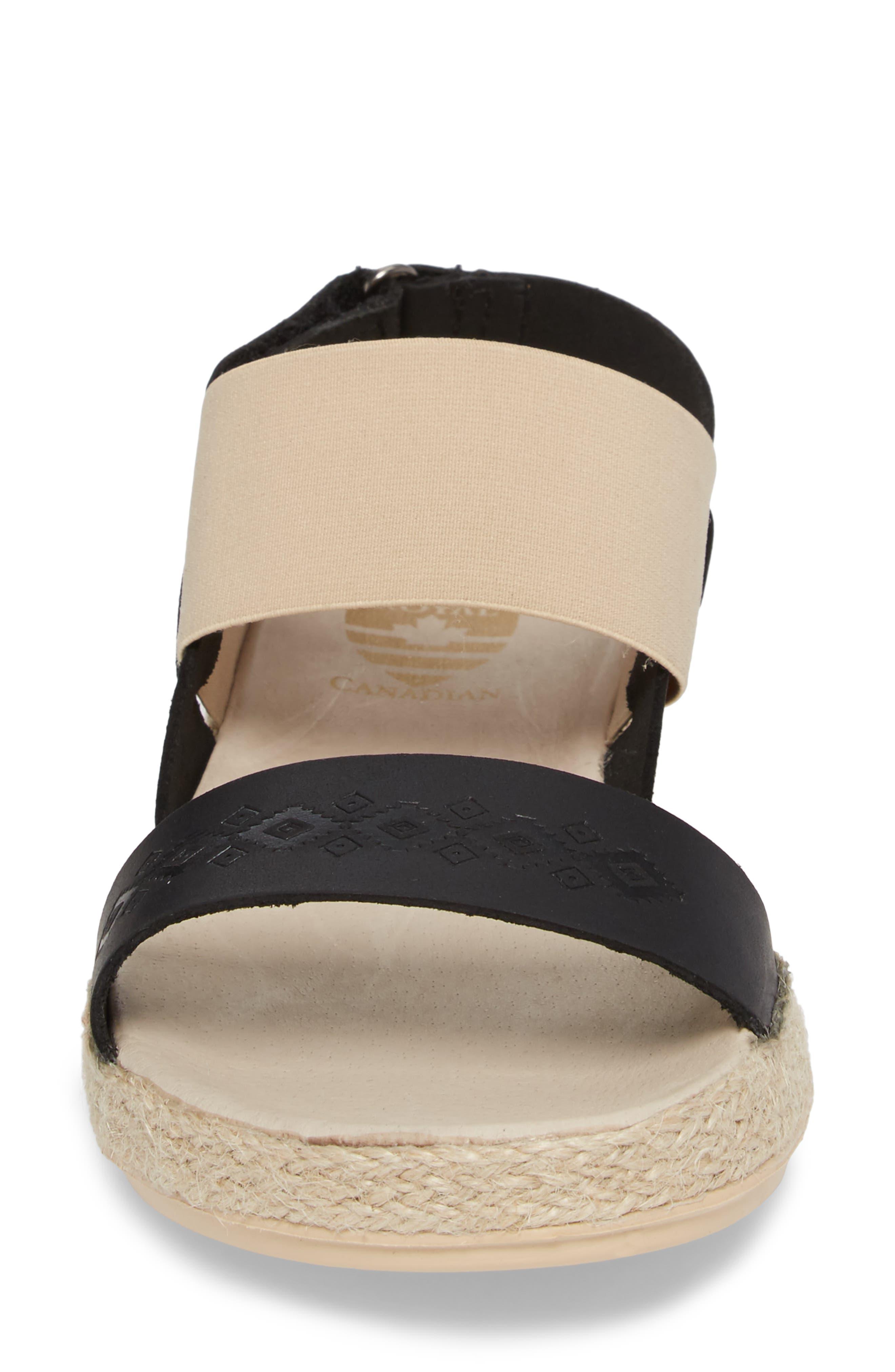 Tobermory Sandal,                             Alternate thumbnail 4, color,                             Black Leather