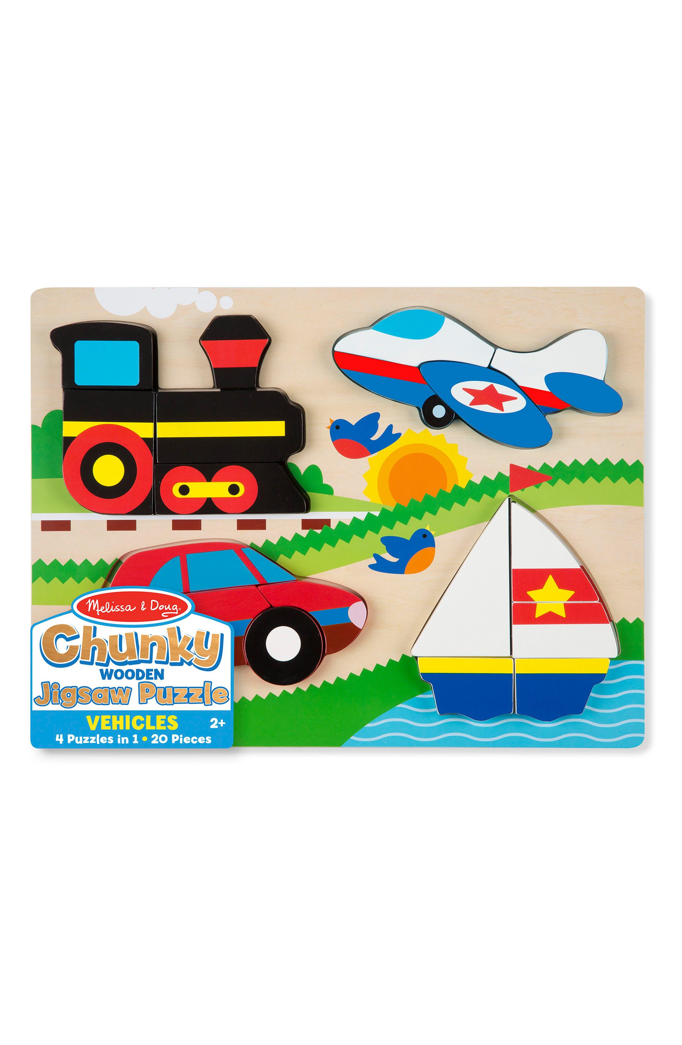 Melissa & Doug Vehicles Chunky Wooden Jigsaw Puzzle