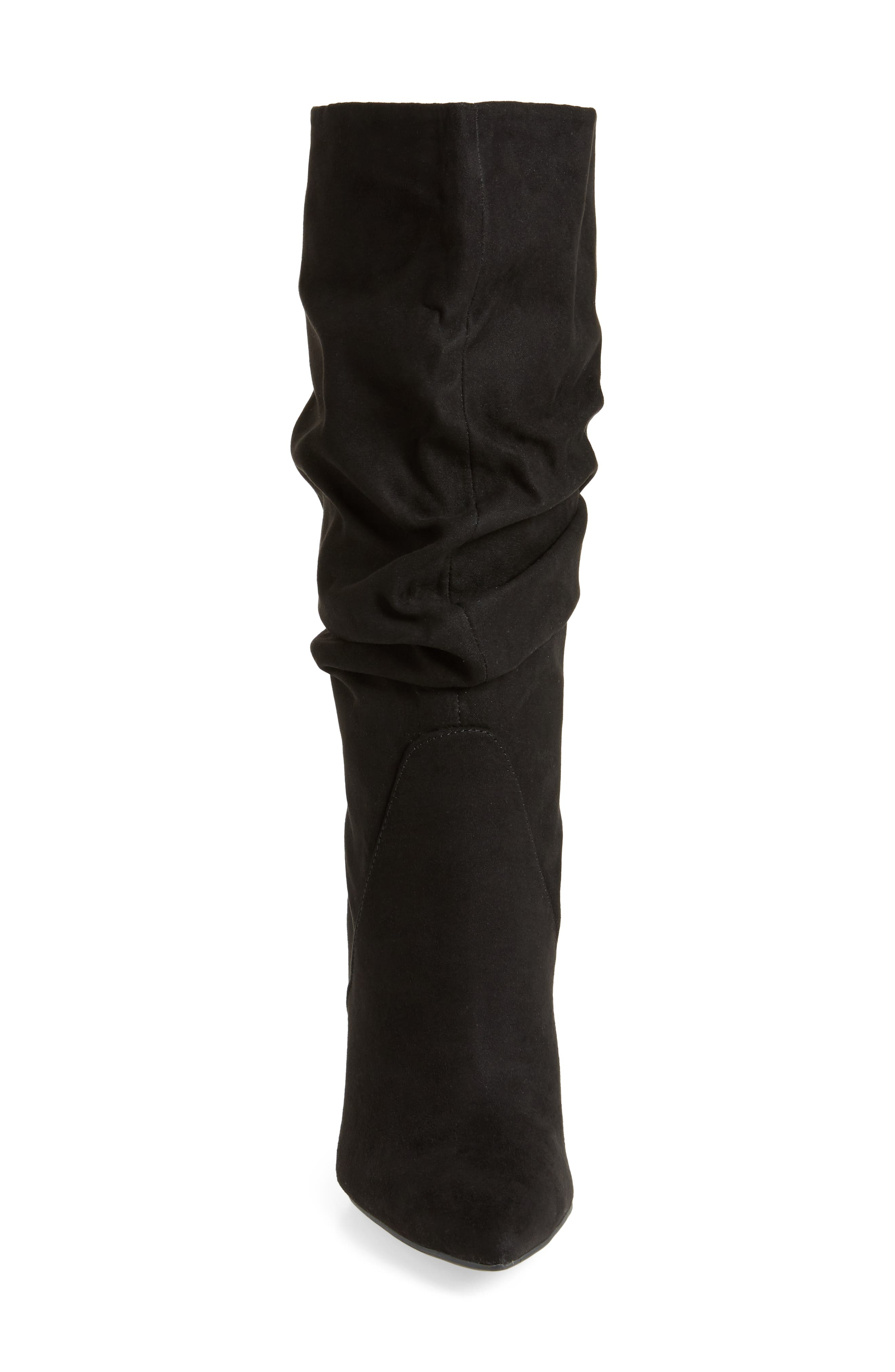 Lyndy Slouch Boot,                             Alternate thumbnail 4, color,                             Black