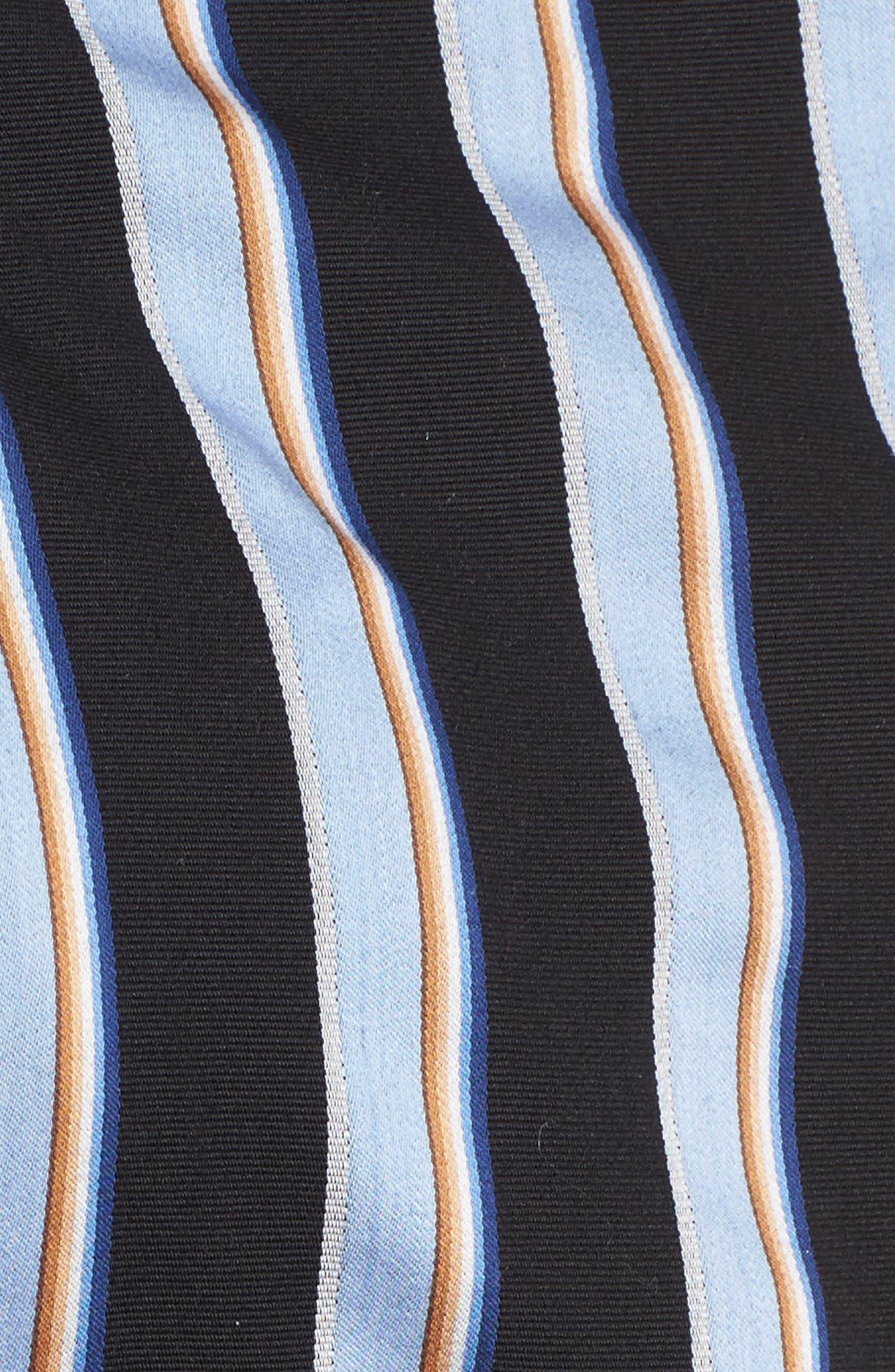 Kean Wrap Crop Top,                             Alternate thumbnail 6, color,                             Blue Stripe