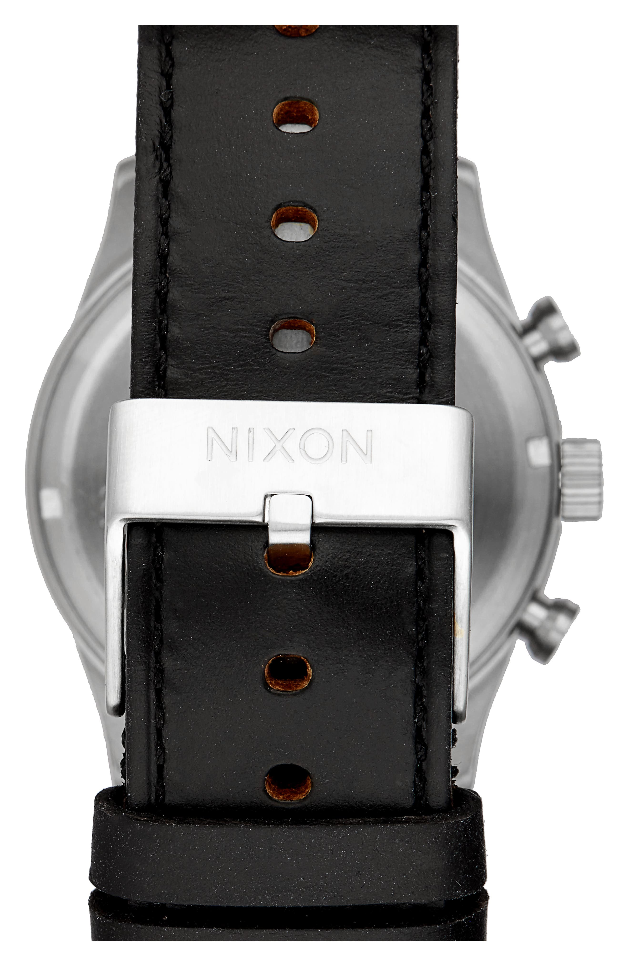 Freemont Chronograph Leather Strap Watch, 42mm,                             Alternate thumbnail 2, color,                             Black/ Brown/ Silver