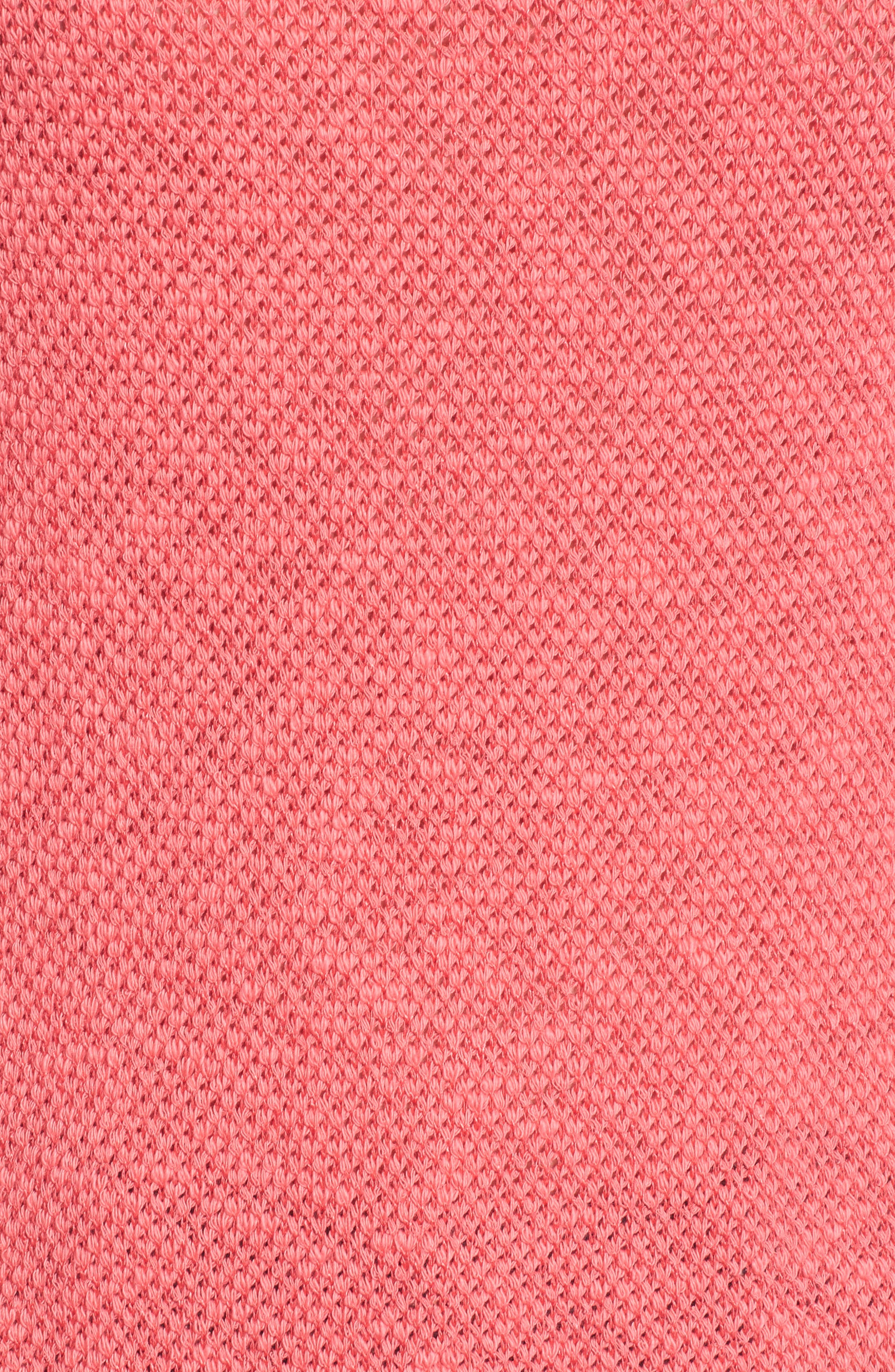 Convertible Neck Knit Pullover,                             Alternate thumbnail 6, color,                             Pink Ribbon