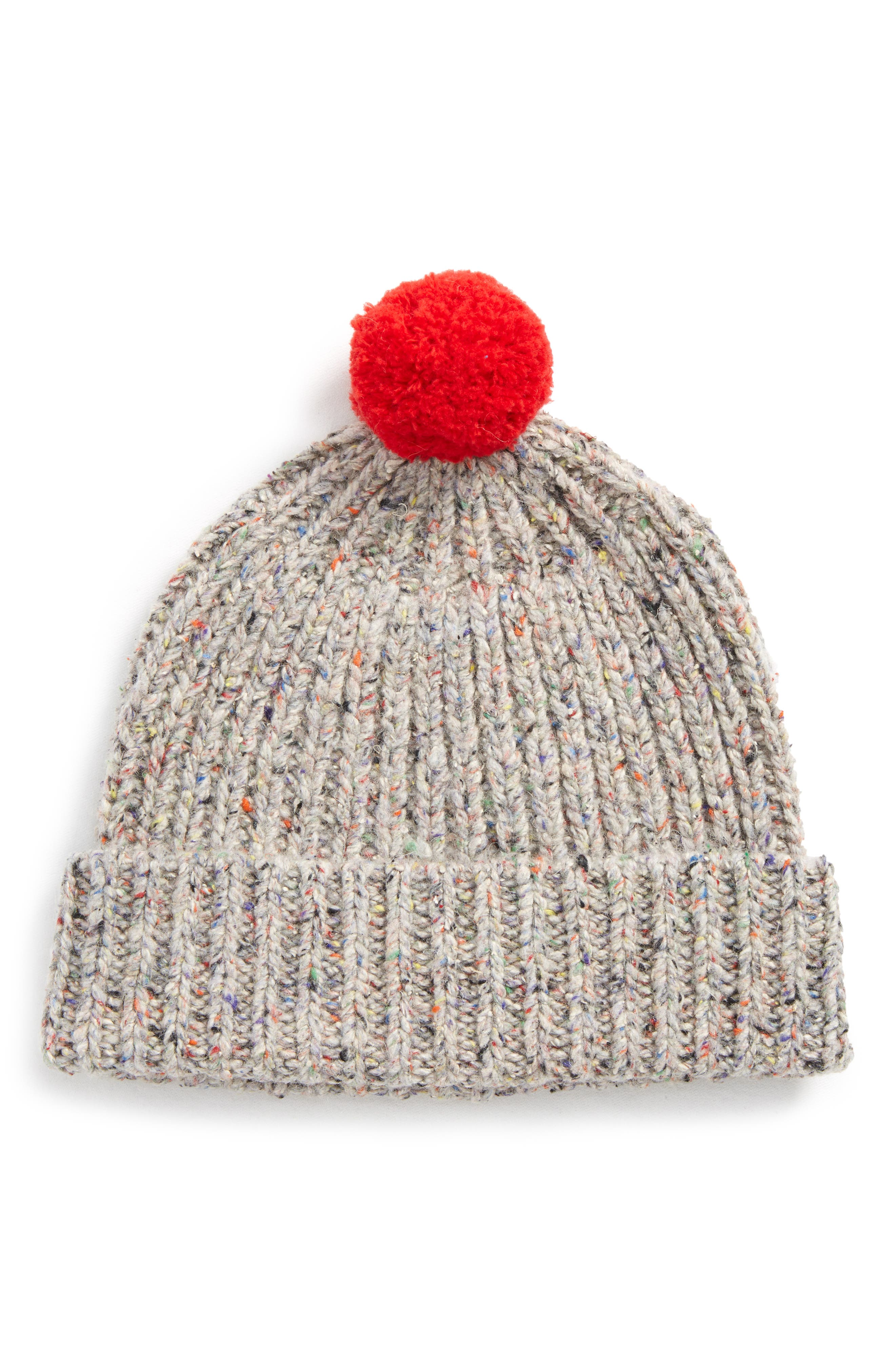 Alternate Image 1 Selected - Madewell Ribbed Pompom Beanie