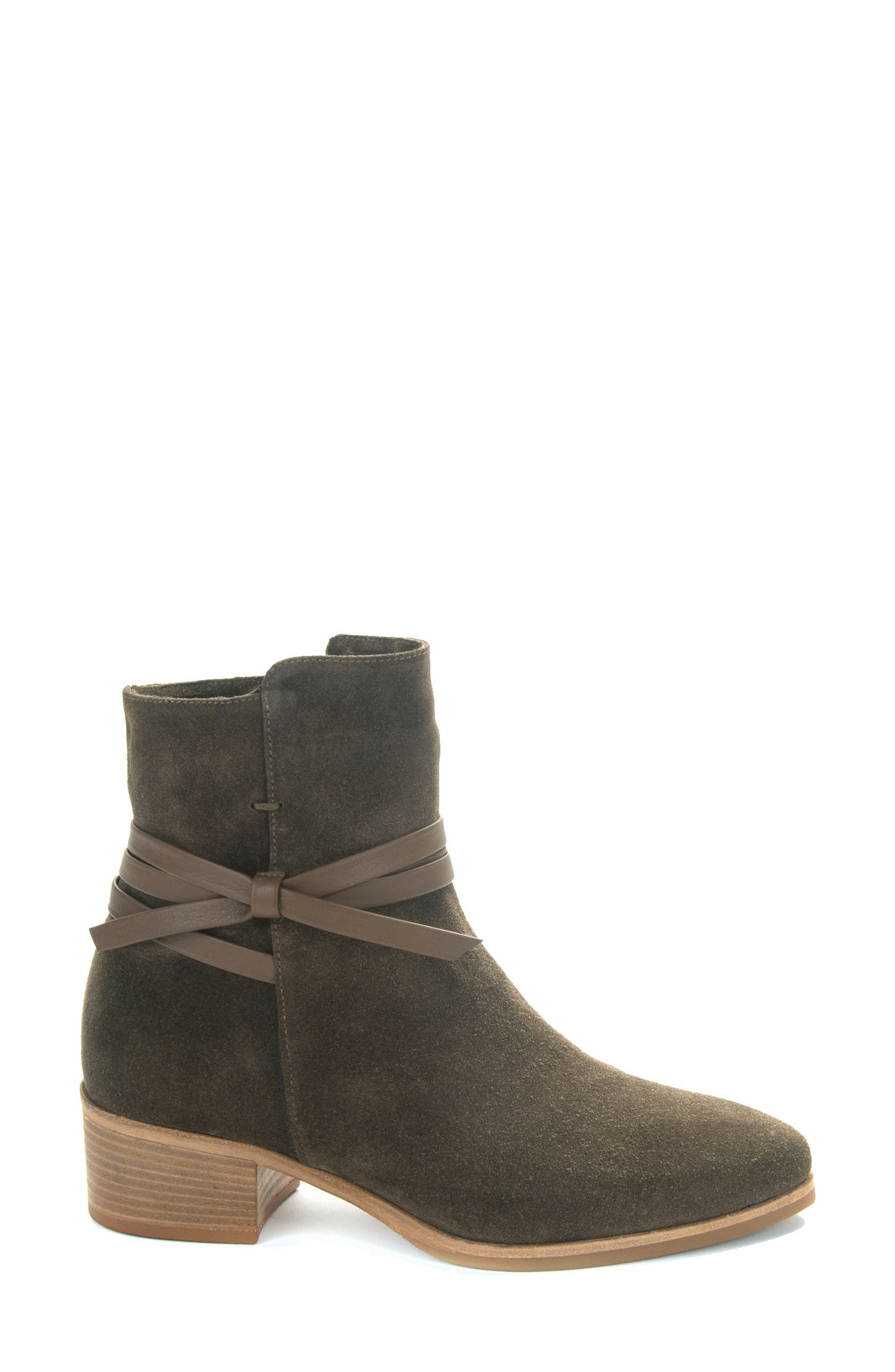 Donata Water-Resistant Bootie,                             Alternate thumbnail 3, color,                             Militare/ Green