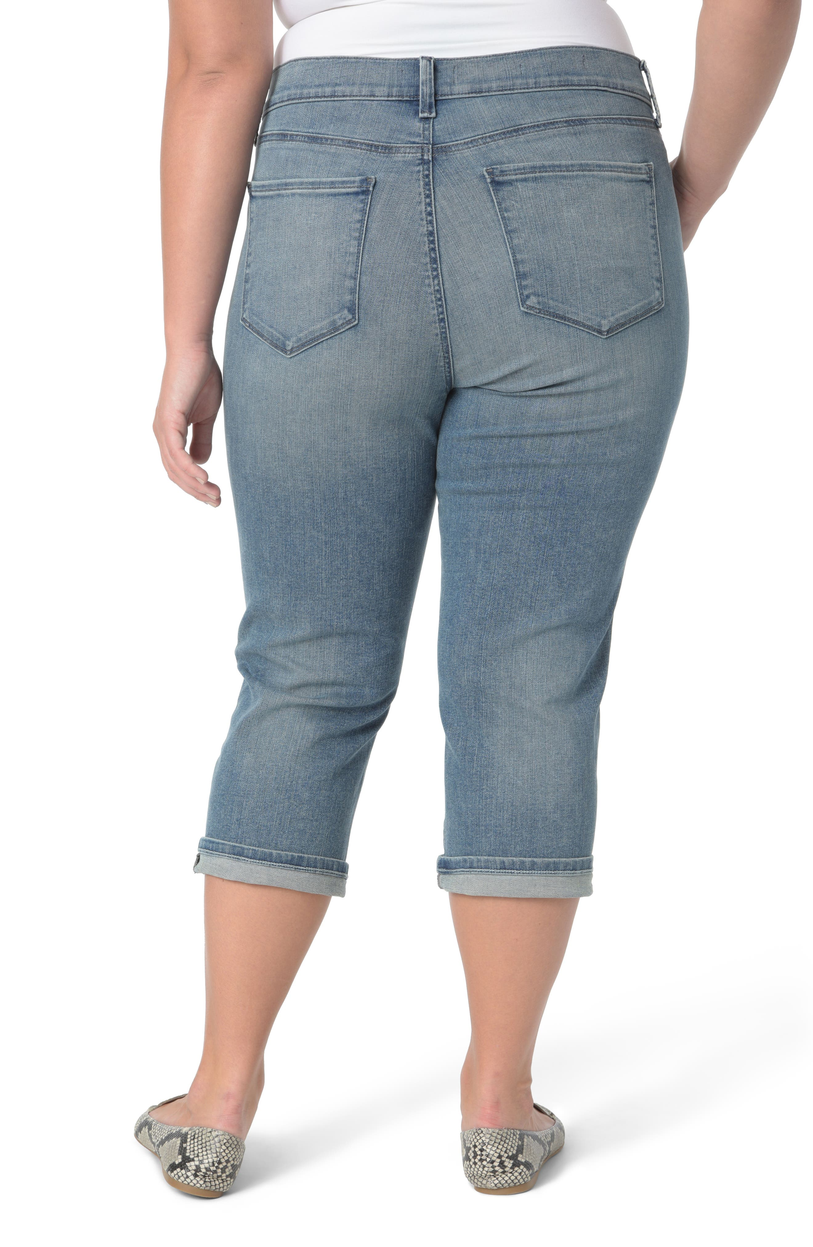 Marilyn Crop Cuff Jeans,                             Alternate thumbnail 2, color,                             Pacific