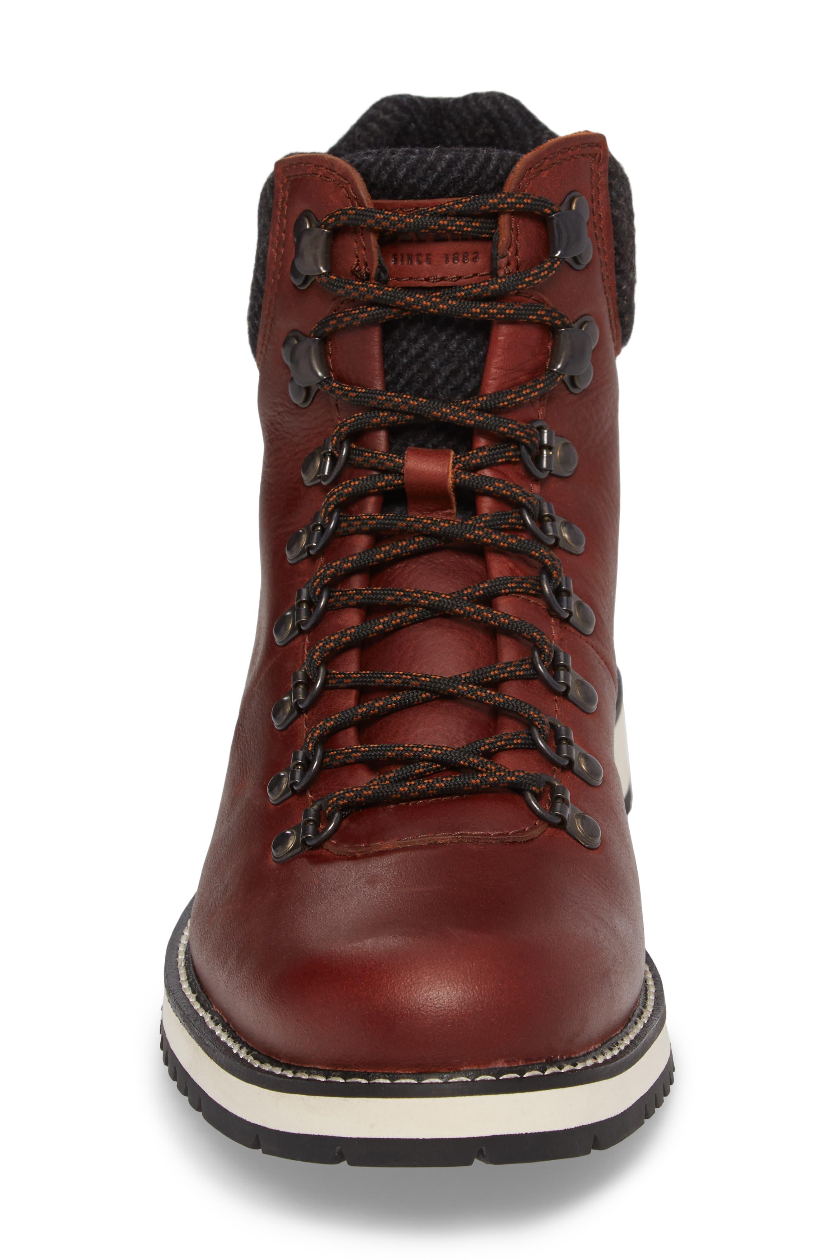 Sidney Waterproof Plain Toe Boot,                             Alternate thumbnail 4, color,                             Brown