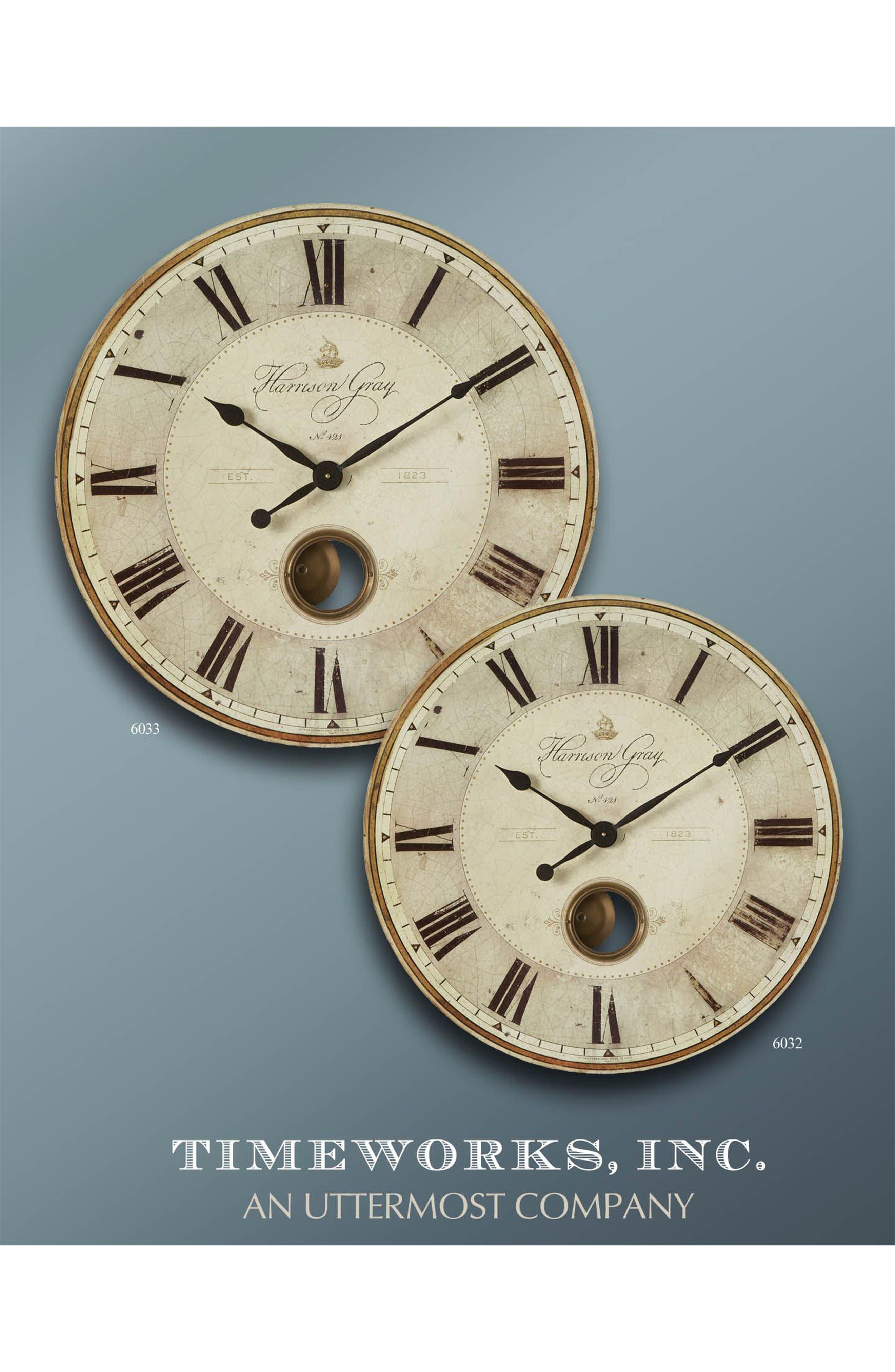 Harrison Gray Wall Clock,                             Alternate thumbnail 2, color,                             Metallic Rust/ Copper