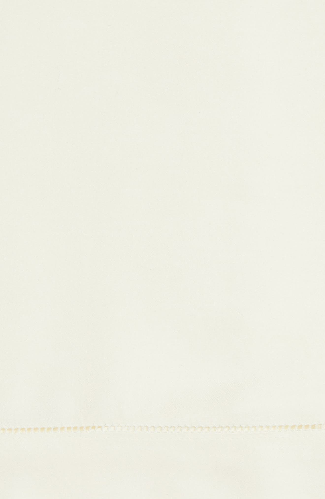 Fiona 300 Thread Count Flat Sheet,                             Alternate thumbnail 2, color,                             Ivory