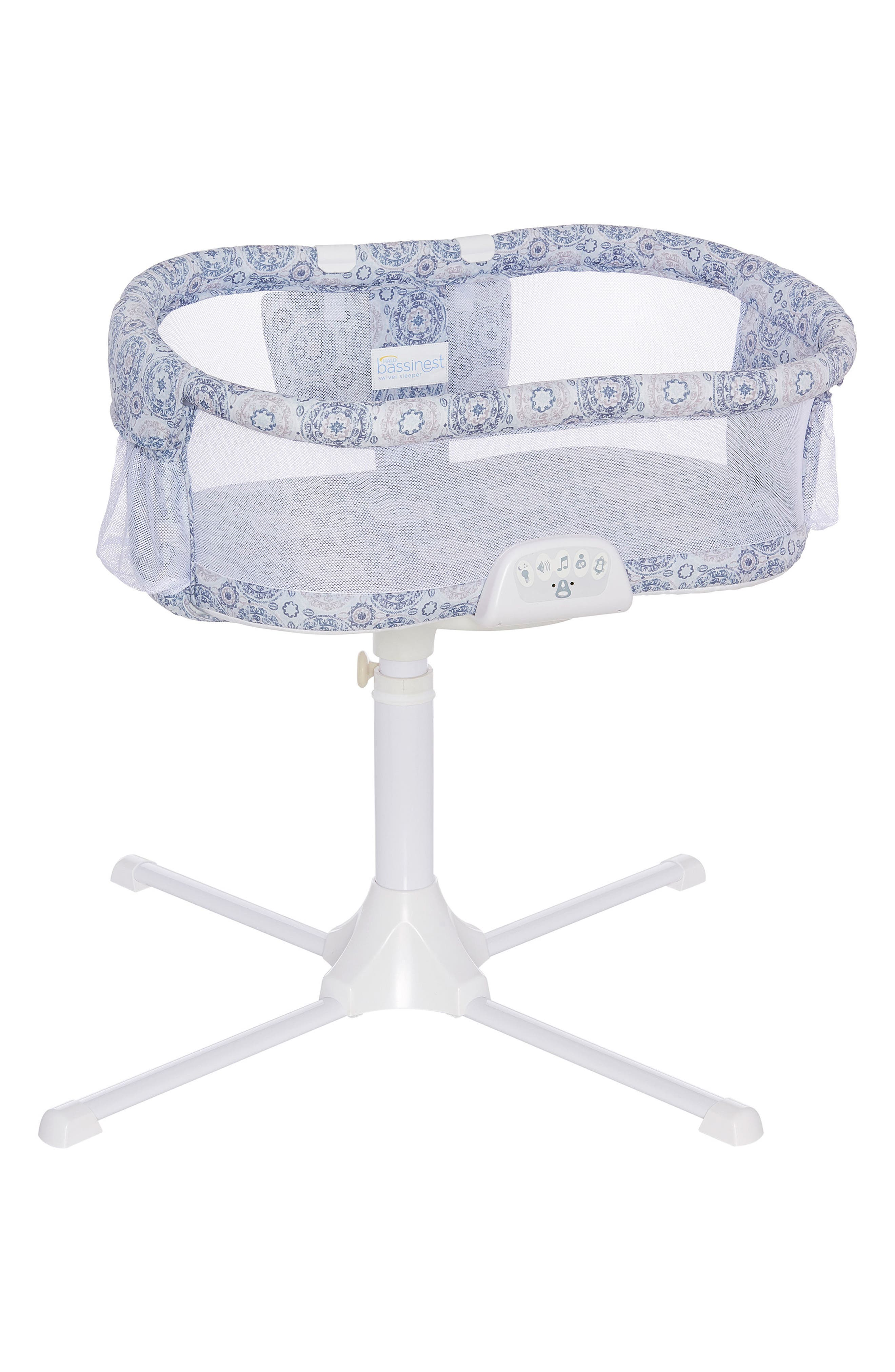 Halo Innovations Bassinest<sup>™</sup> LUXE Bedside Swivel Sleeper,                             Main thumbnail 1, color,                             Blue Medallion