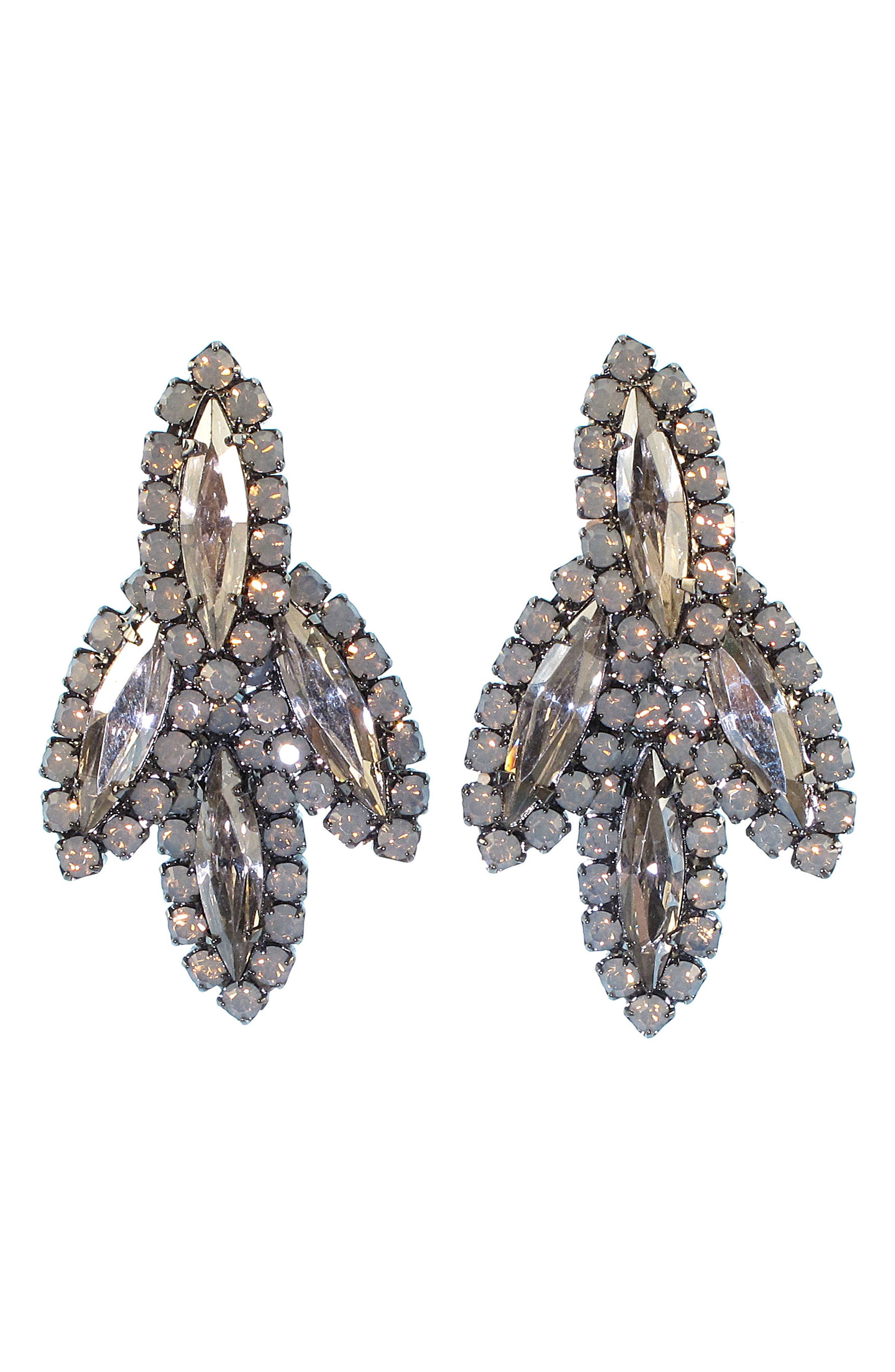 Peite Becall Crystal Drop Earrings,                             Main thumbnail 1, color,                             Nude