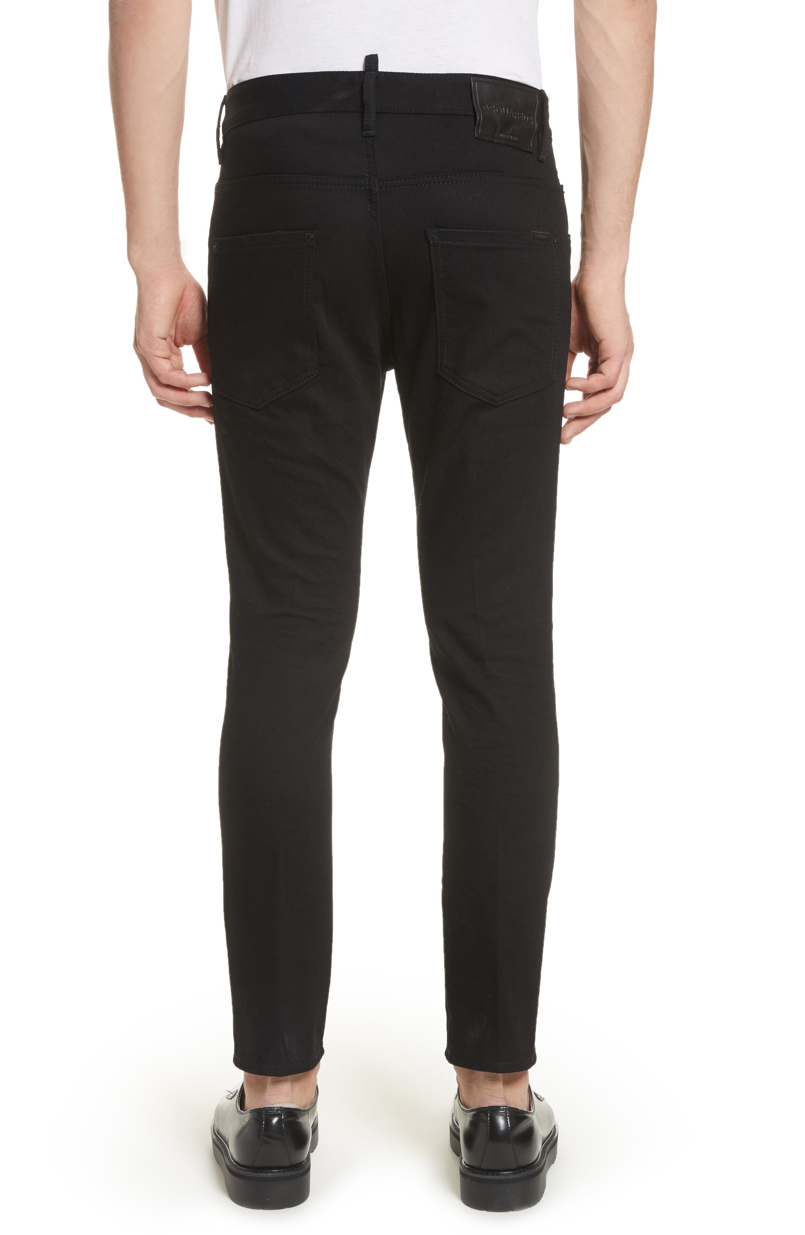 Alternate Image 2  - Dsquared2 Black Bull Skater Jeans