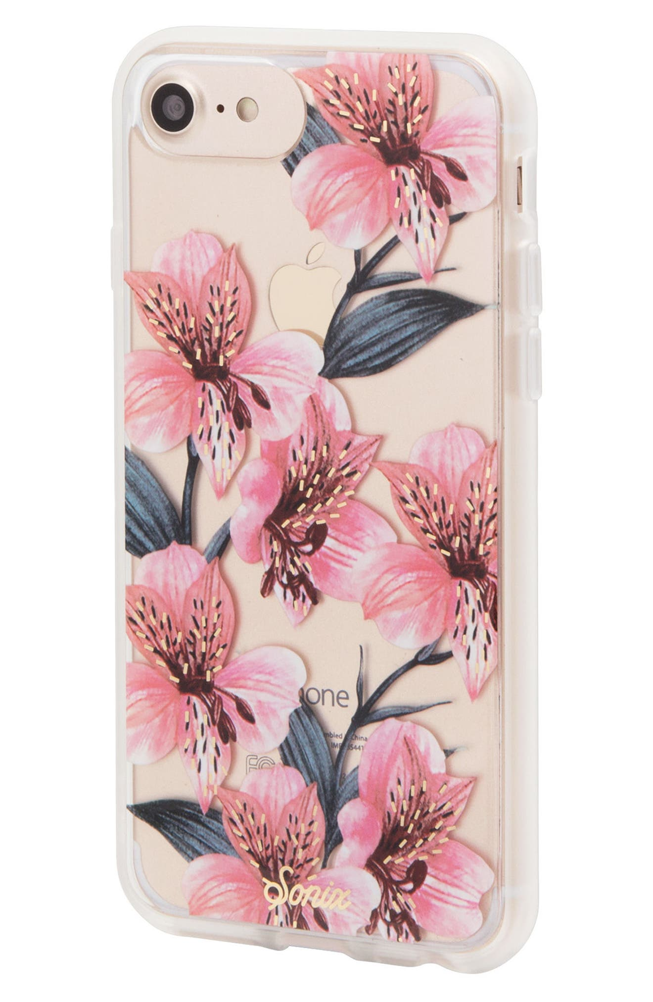 Tiger Lily iPhone 6/6s/7/8 & 6/6s/7/8 Plus Case,                             Alternate thumbnail 2, color,                             Pink