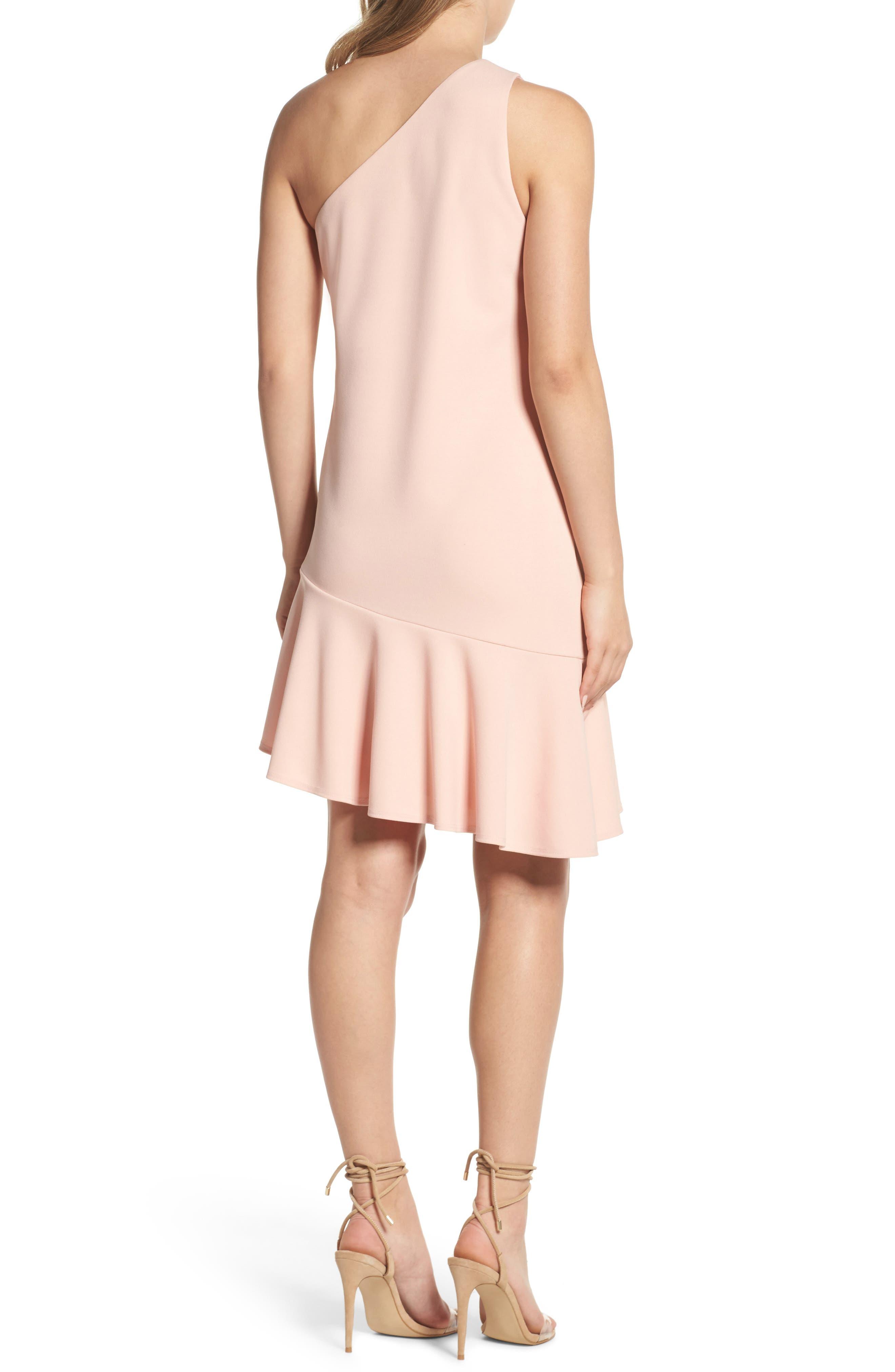 Alternate Image 2  - Charles Henry One-Shoulder Ruffle Dress