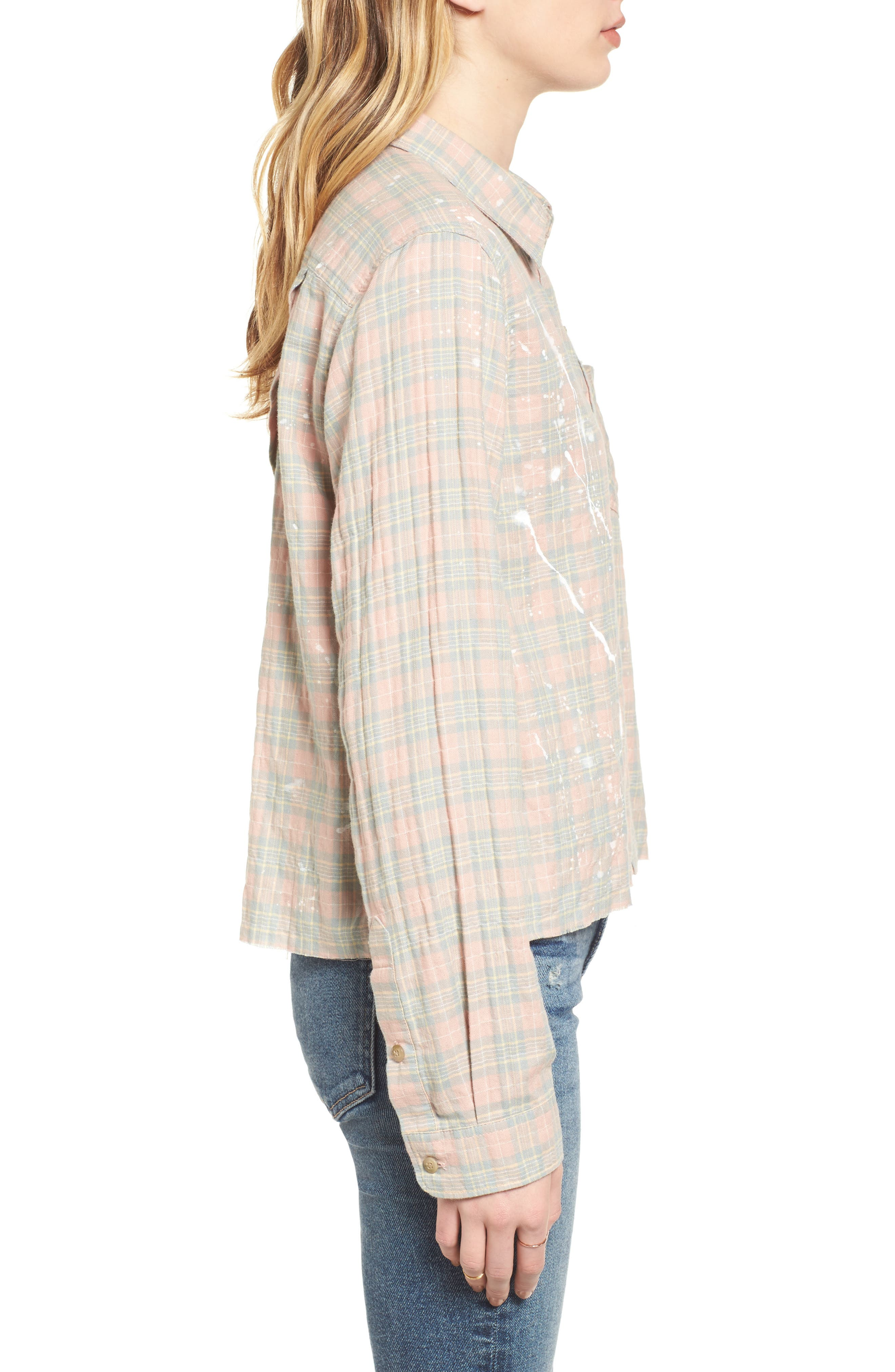The Ivie Plaid Shirt,                             Alternate thumbnail 3, color,                             Sunshine Plaid