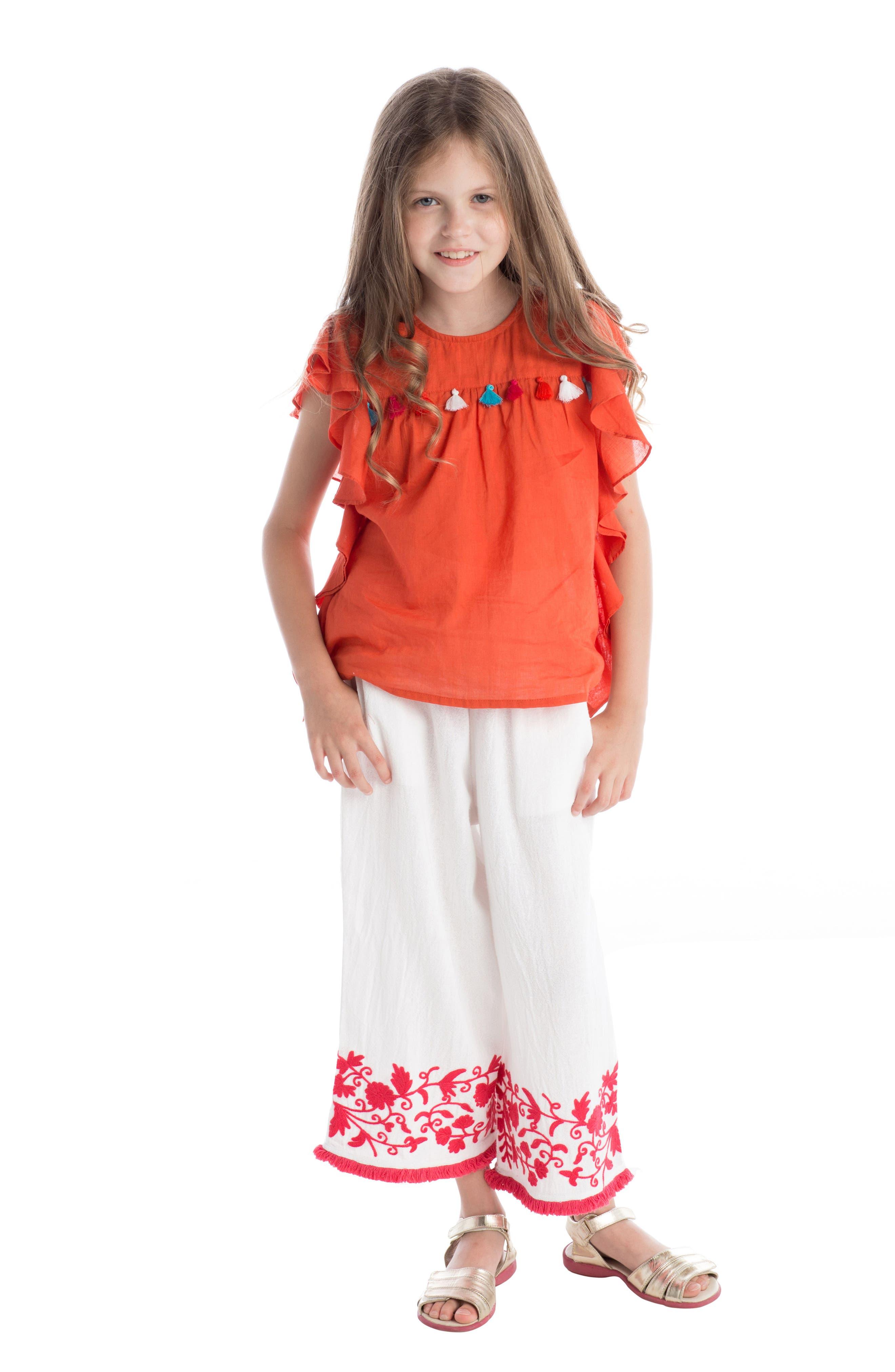 Alternate Image 2  - Masala Baby Wave Ruffle Top (Toddler Girls, Little Girls & Big Girls)